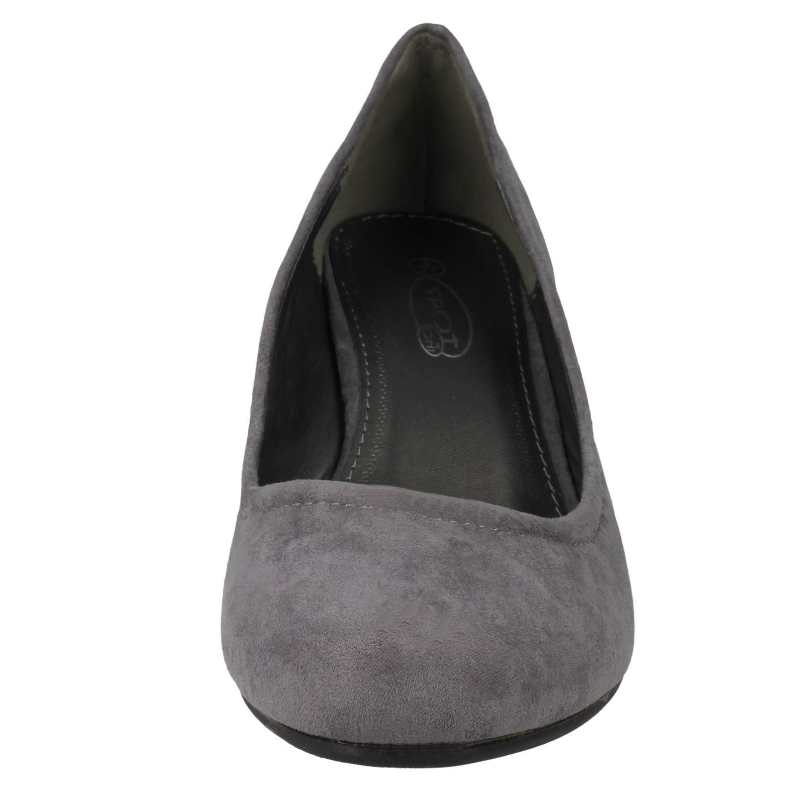 R2A Spot On Ladies Wedge Sandal F1R0140 Black UK 5