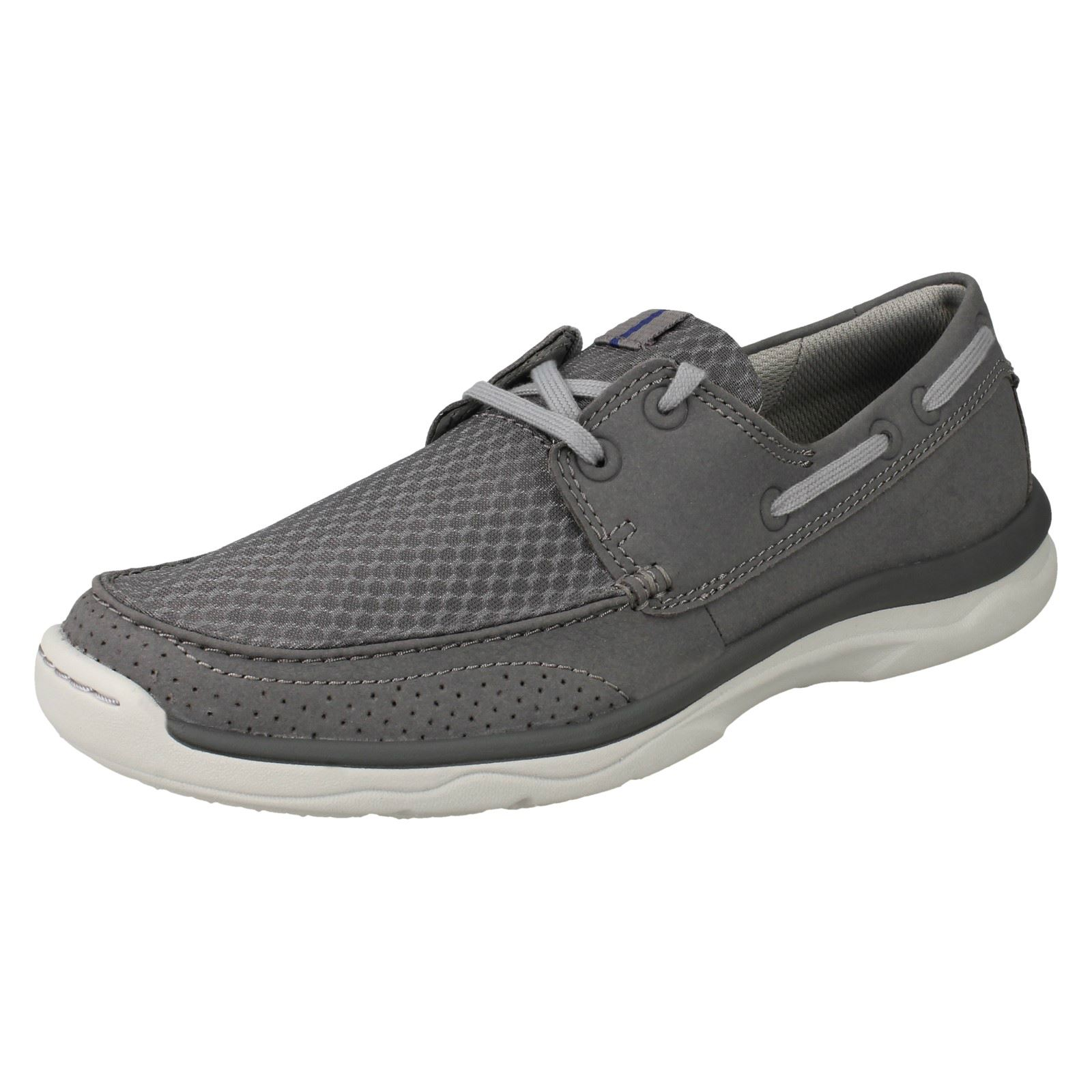 Mens Lace Clarks Cloudsteppers Lace Mens Up Casual Shoes 'Marus Edge' 05700e