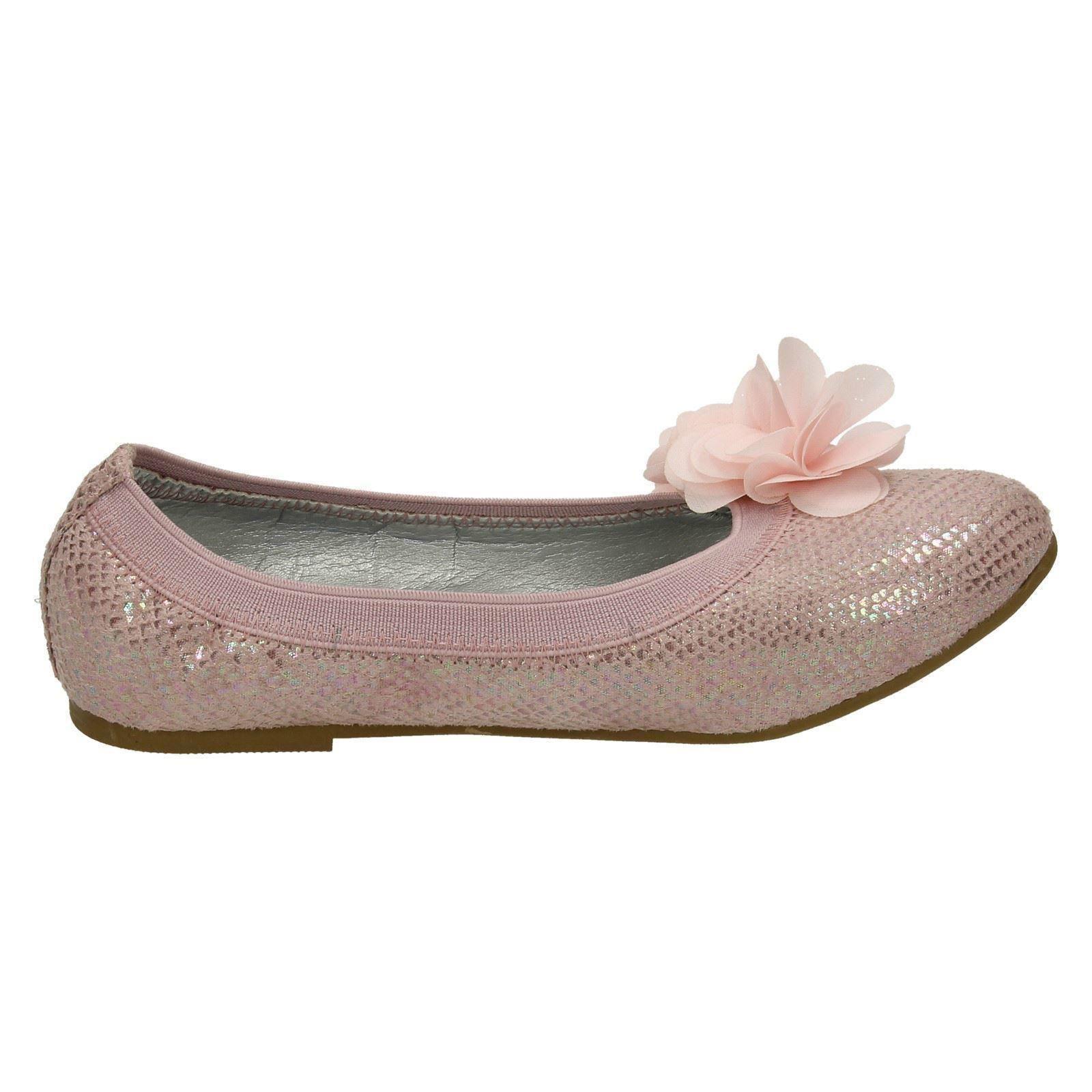 Spot On Girls Flat Slip On Ballerina