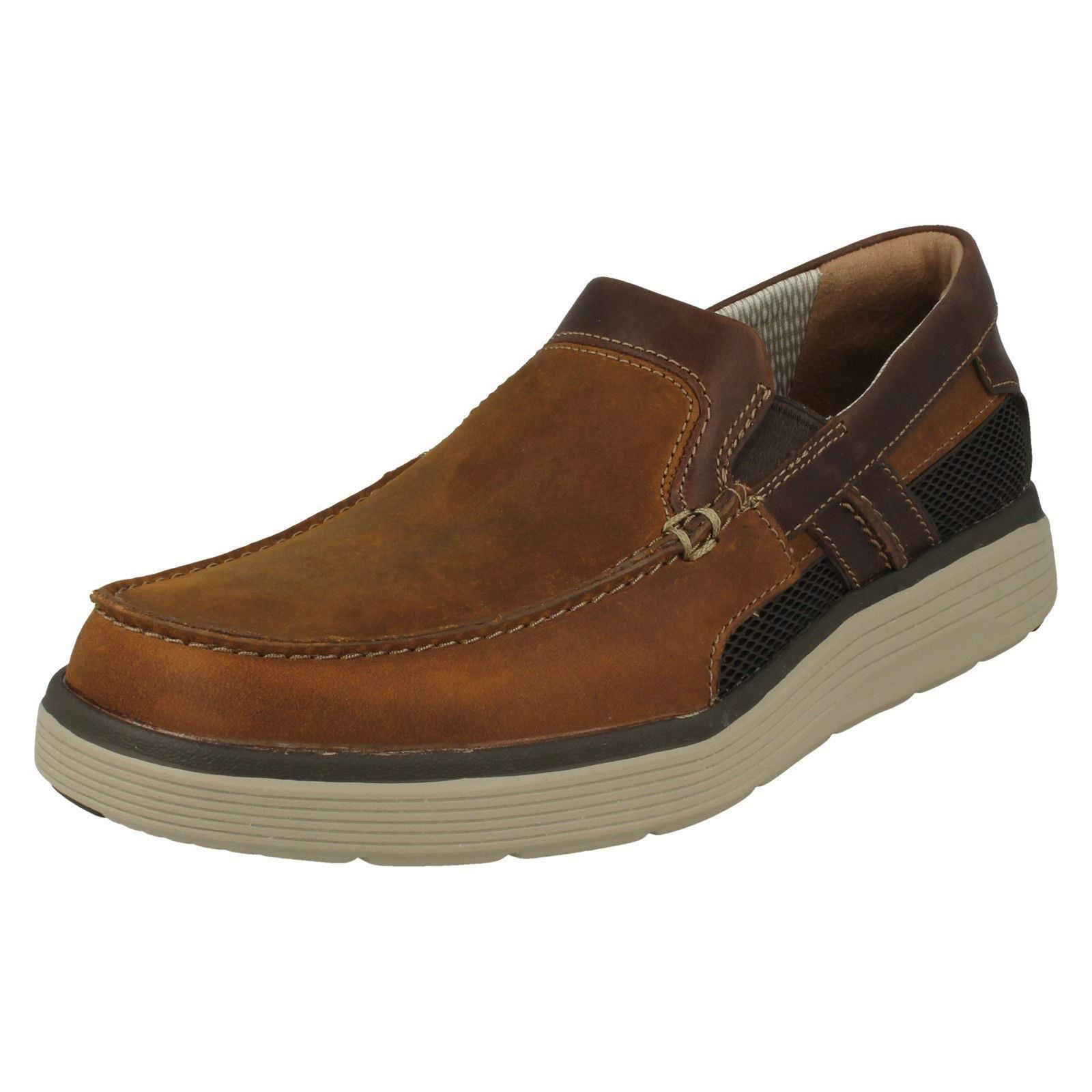Mens-Clarks-Casual-Slip-On-Shoes-039-Un-