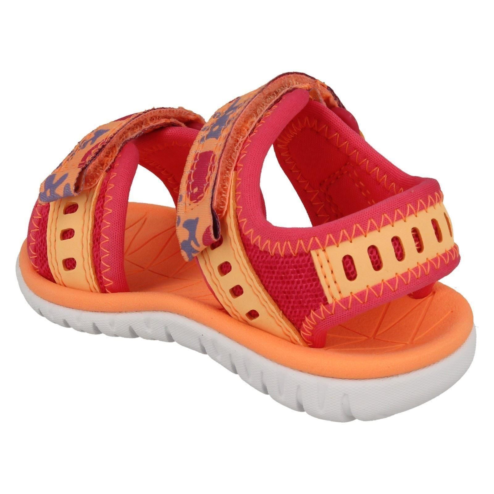 Girls Clarks Casual Strapped Sandals Surfing Moon
