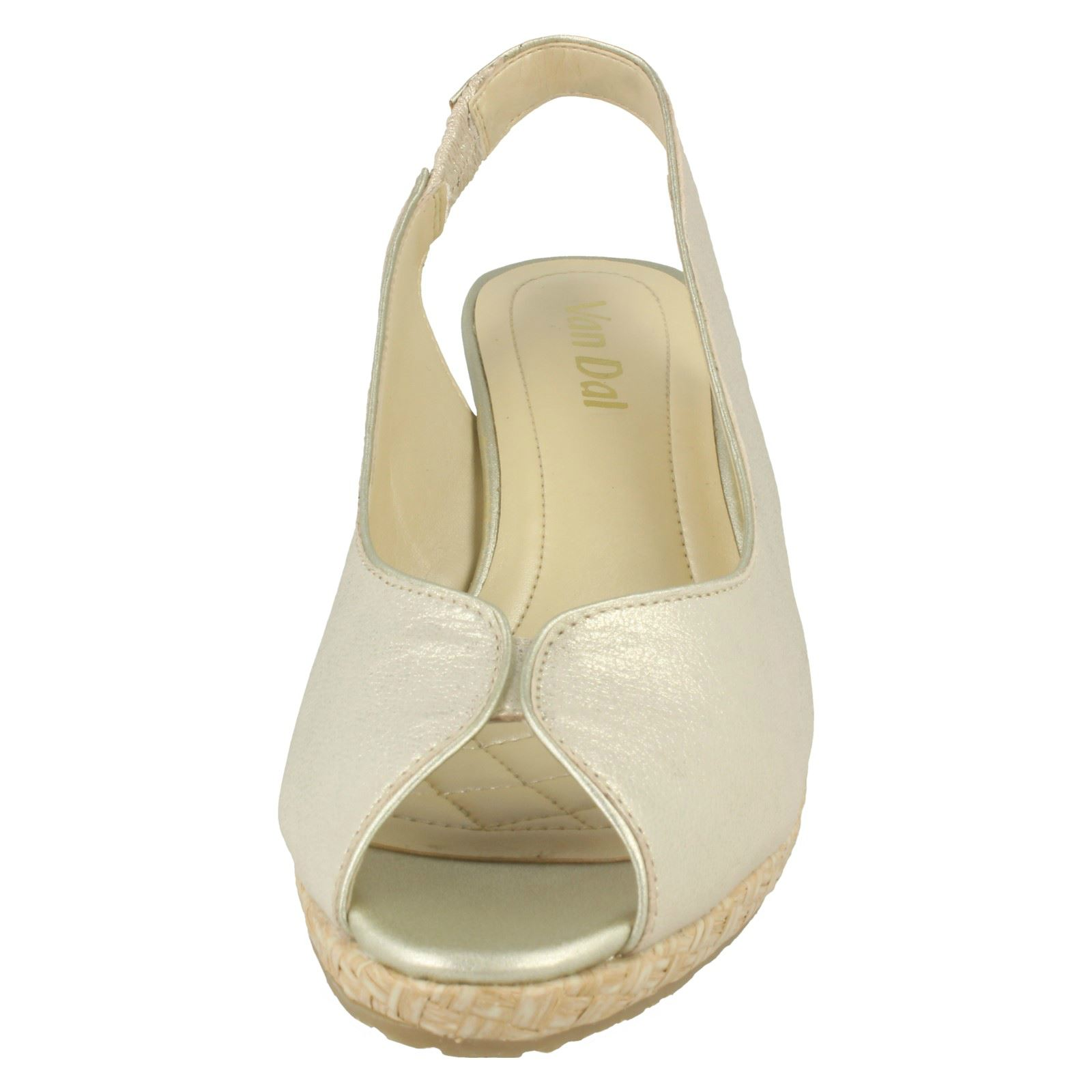 Ladies-Van-Dal-Leather-Wedge-Sandal-With-Woven-Detail-Avalon thumbnail 17