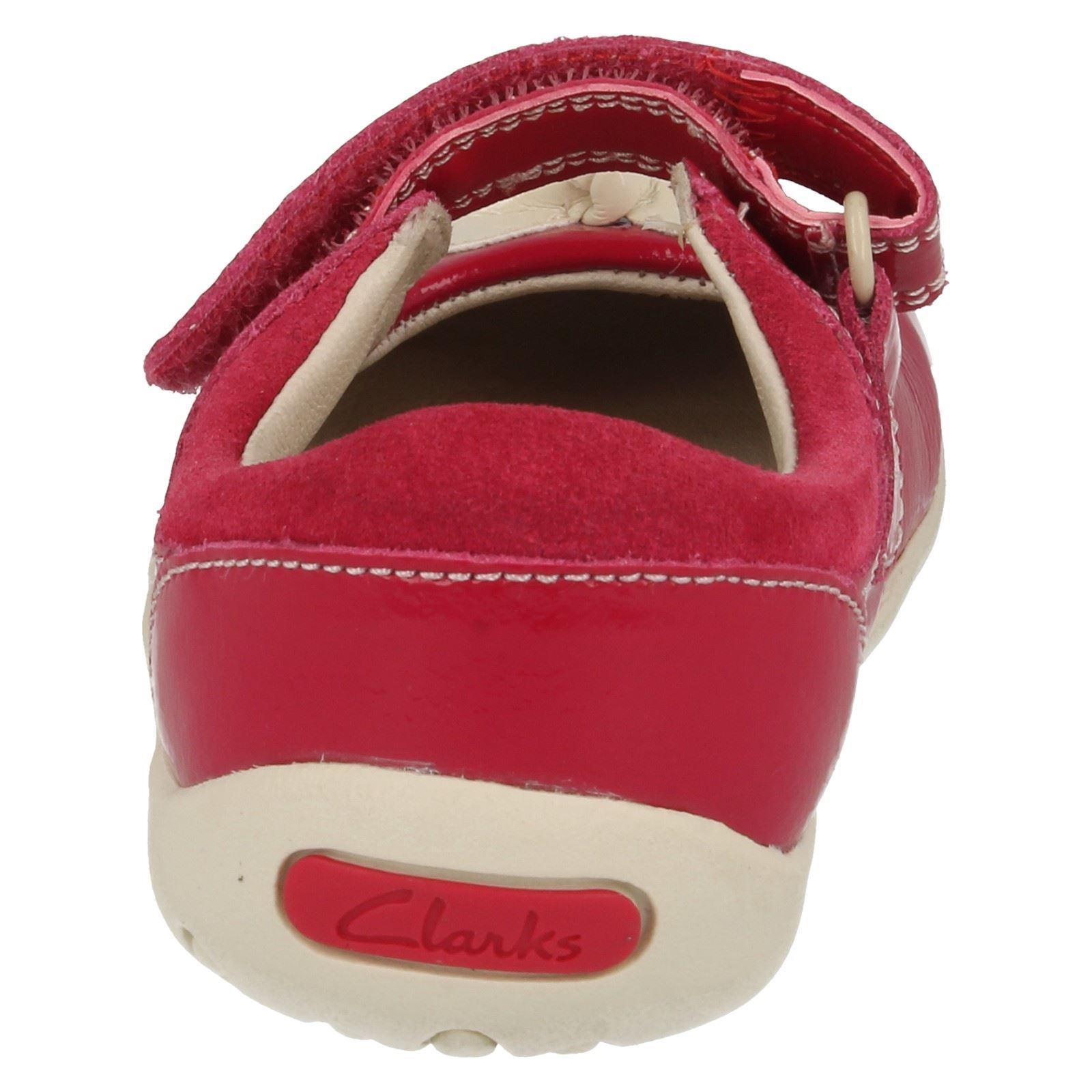 con Berry rosa Soft Clarks Clarks Zapatos diseño niñas para qwanRZS
