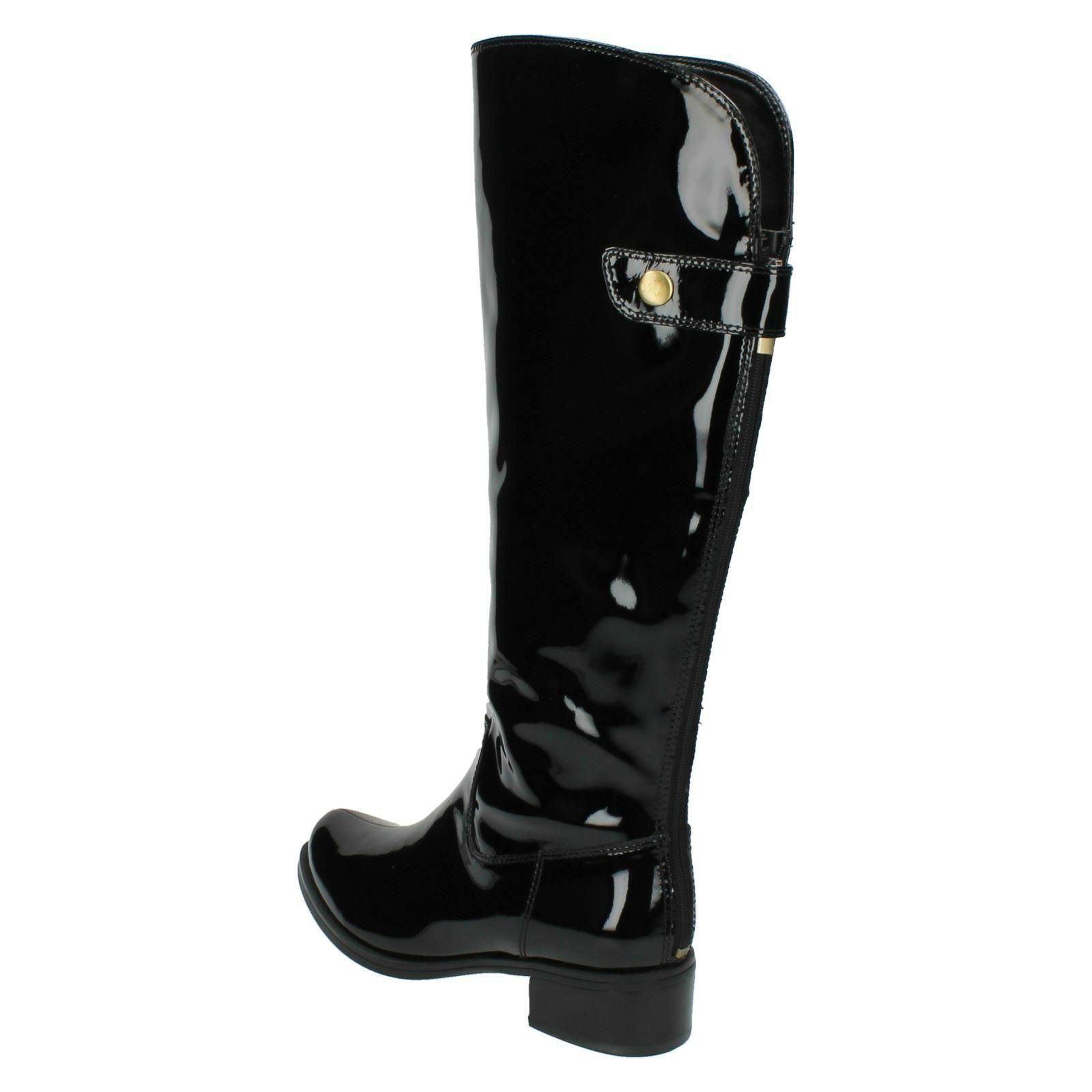 patente Señoras Kildale negro largas Clarks botas Drama formales zzRaw0Zq