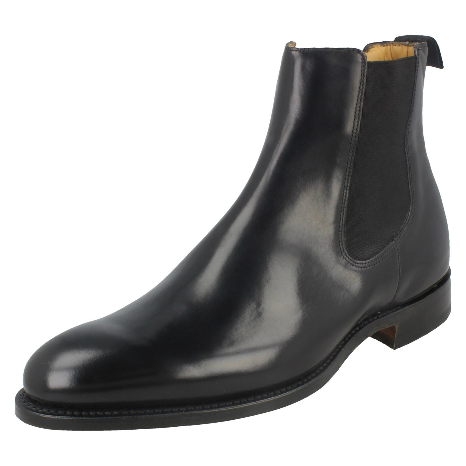 nero Welted Boots Barker Mens Bedale Chelsea Shine Sole pelle in Slip On Hi Formal AZxqEnO