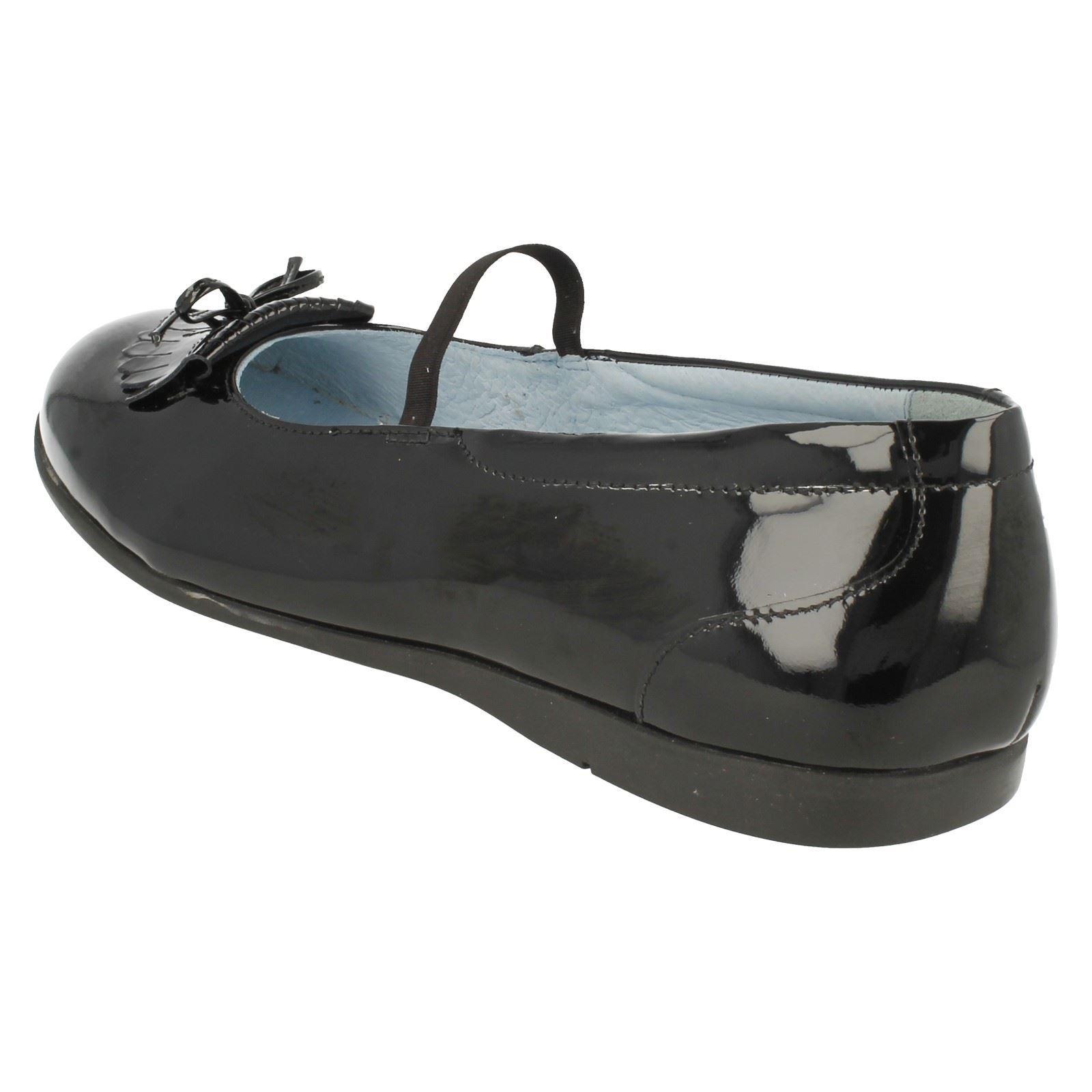 Zapatos De Cuero Senior Chicas Rhino Startrite De Patente Escuela por-Maria