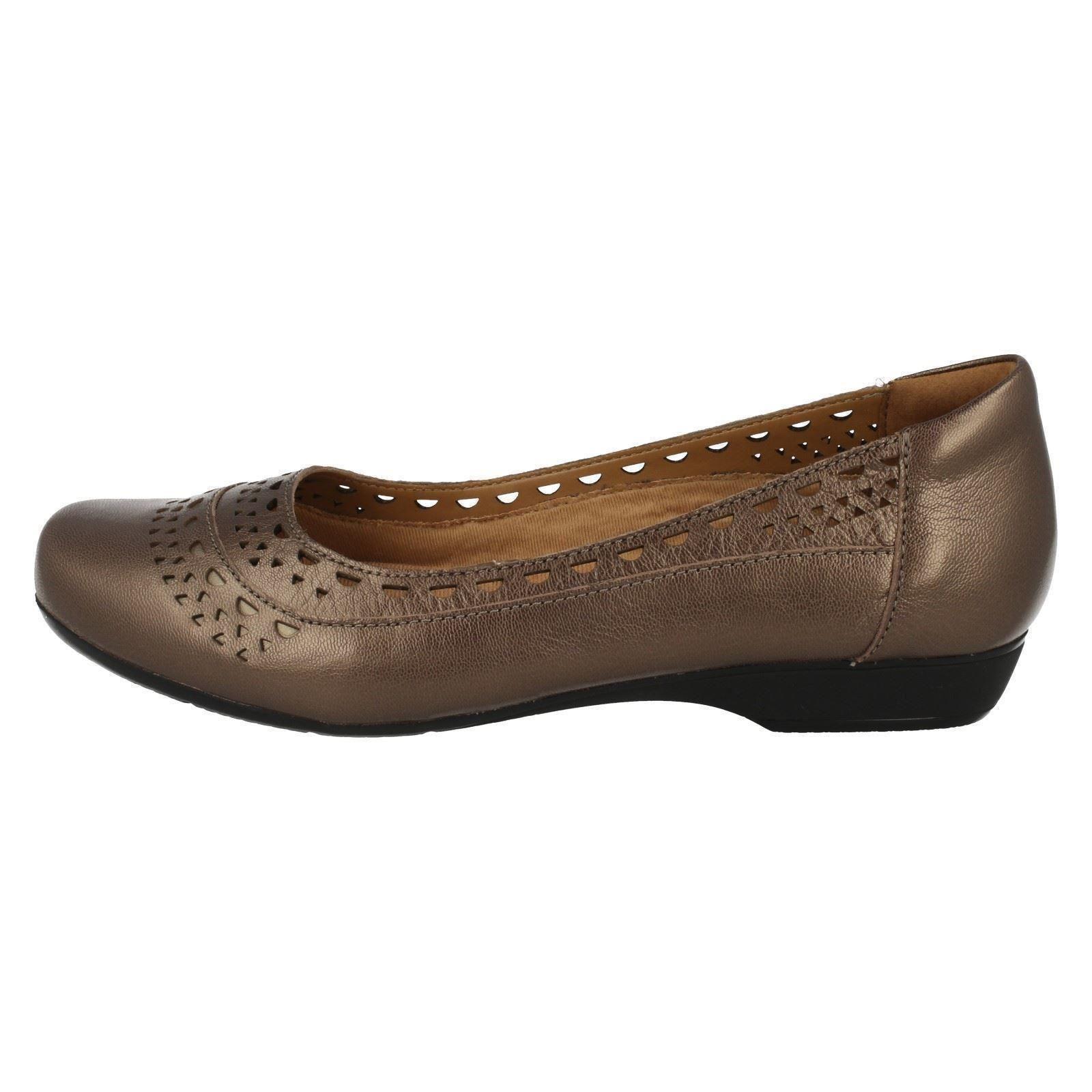 Blanche Flats Ballerina Melody Pewter Señoras Clarks marrón 5znqT