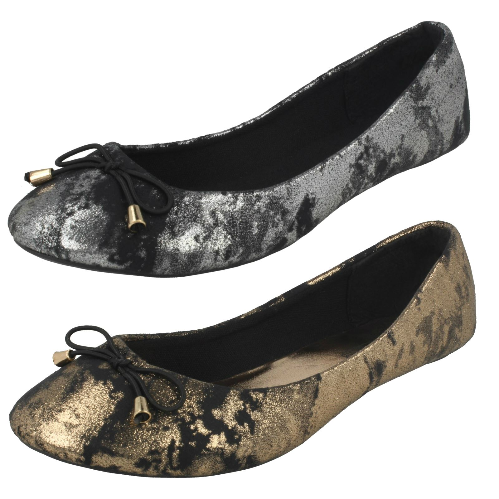 Ladies Spot On Ballerina Style Shoes