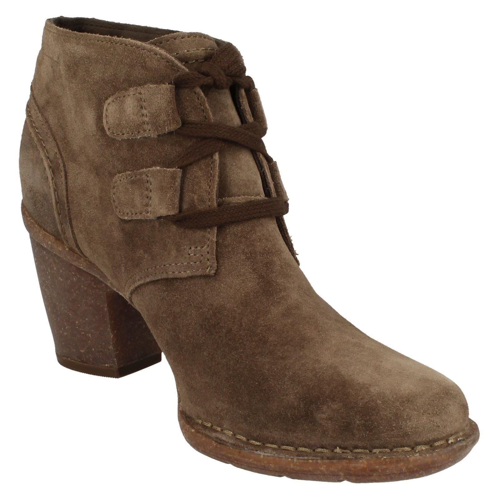 Señoras Encaje Clarks rojoondeado Toe Casual Tacón Alto Alto Alto Tobillo botas De Gamuza carleta Lyon 84a271