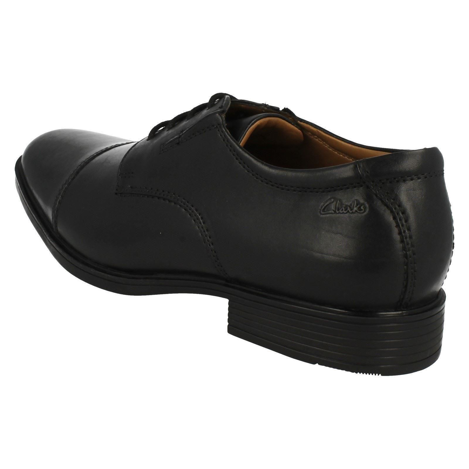 Mens-Clarks-Formal-Lace-Up-Shoes-Tilden-Cap thumbnail 5