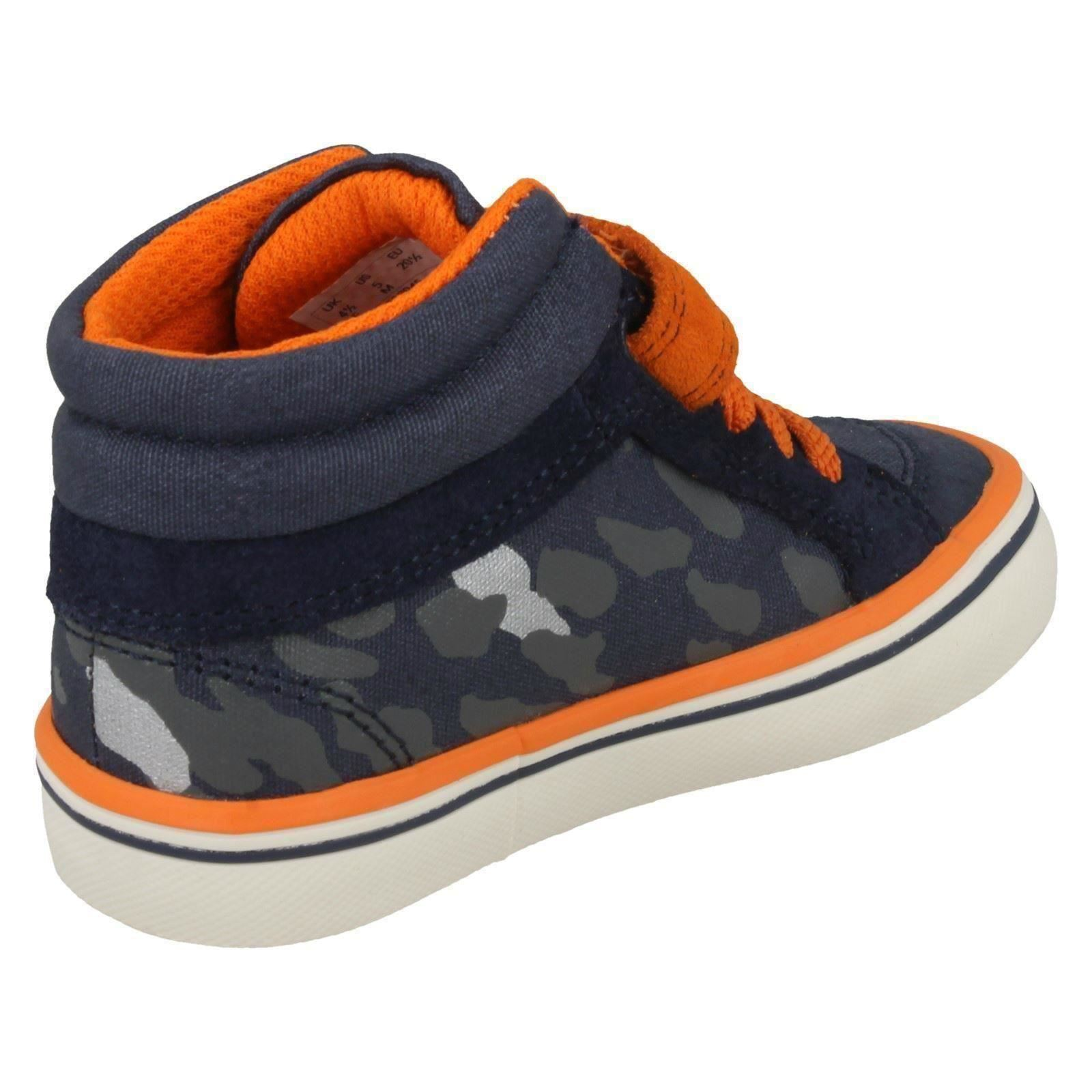 Boys First Shoes By Clarks Casual Hi-Top Trainers Juggle Sam