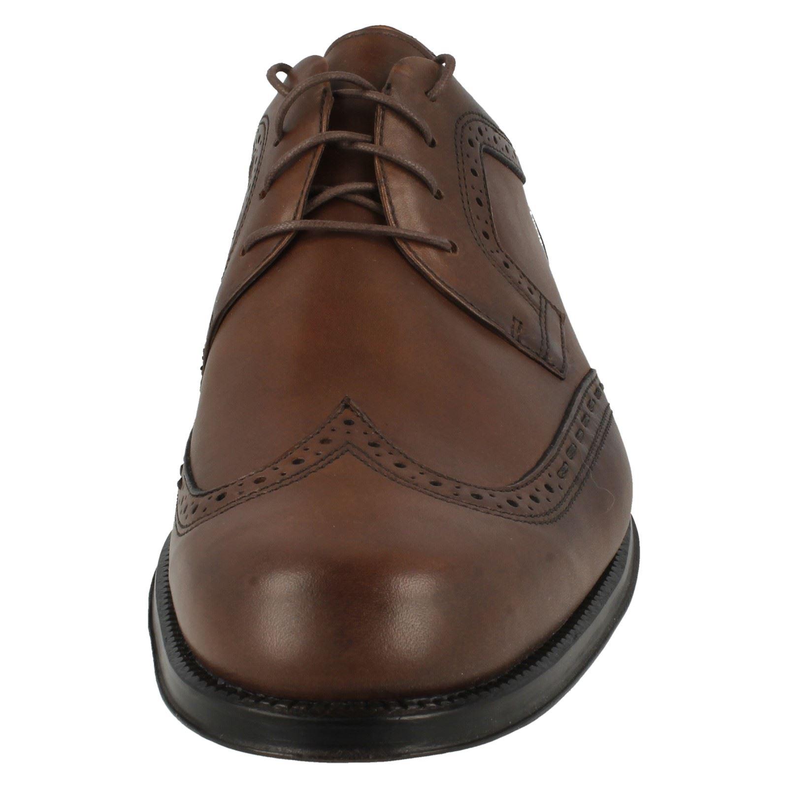 Uomo Clarks Leder Formal Brogue Lace Up Leder Clarks Schuhes Dino Club 8809e0