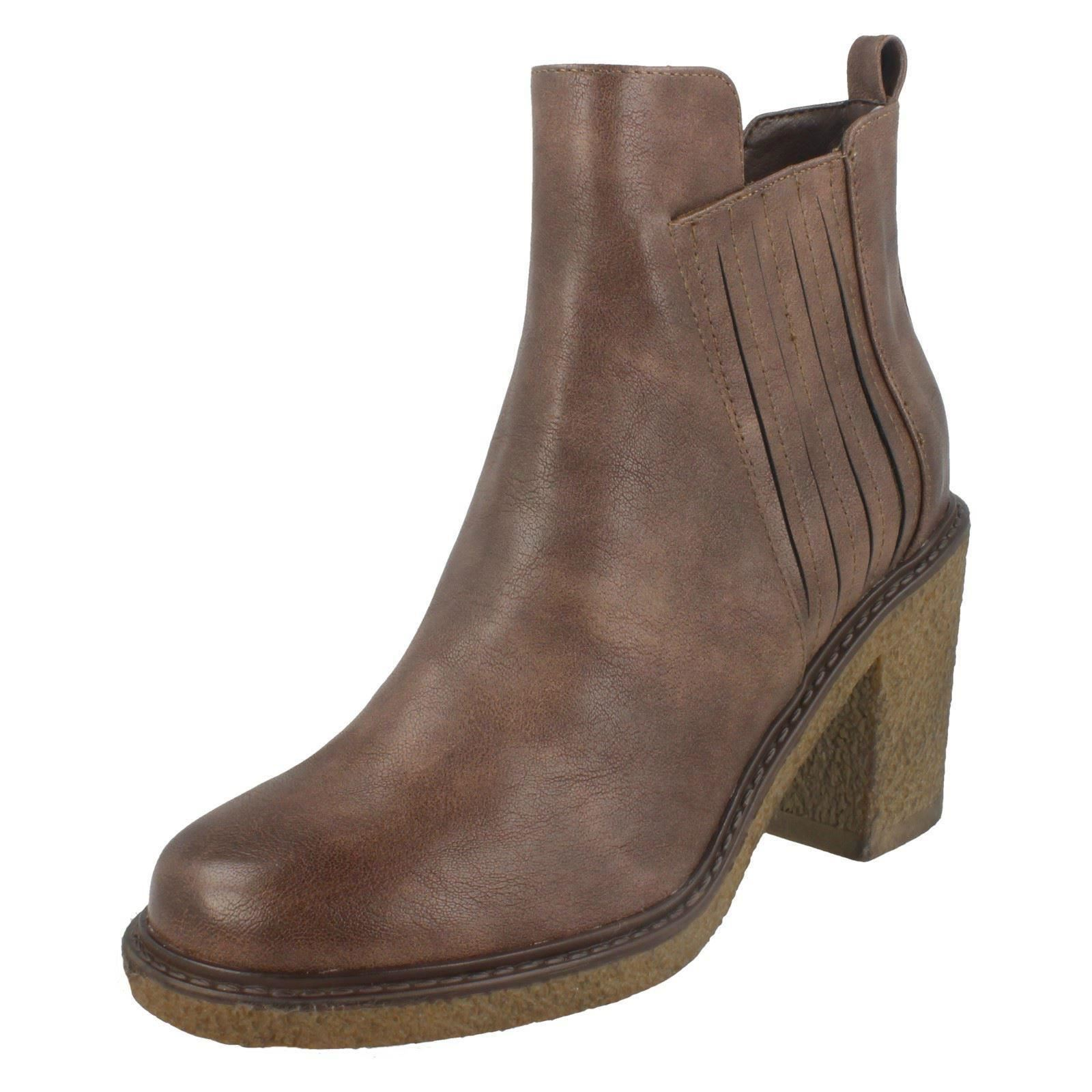 Earth Heel To Ladies Mid Ankle Brown Down Boots xqE6wg