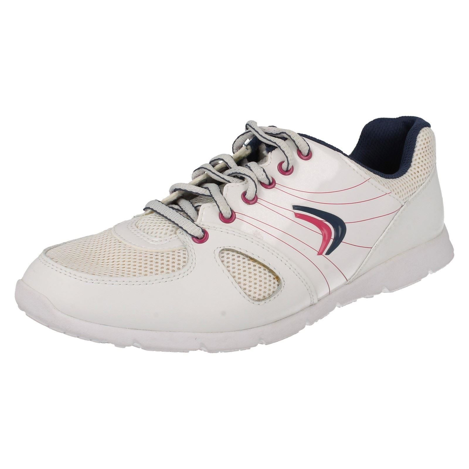 Girls Bootleg by Clarks Casual Lace Up Trainers Prance Twirl