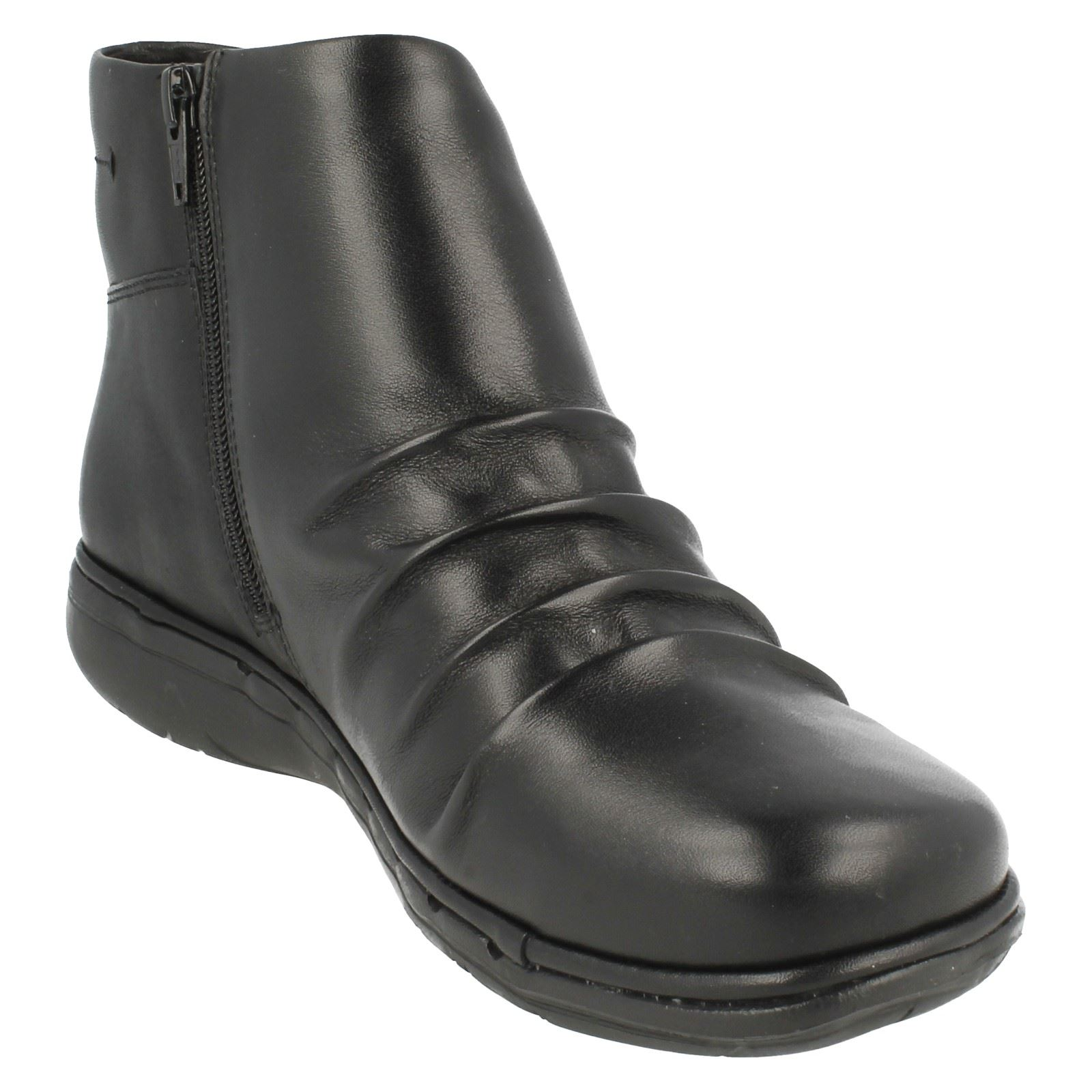 Ladies Ankle Arlyn Black Unstructured Clarks Boots Un UxvRxg
