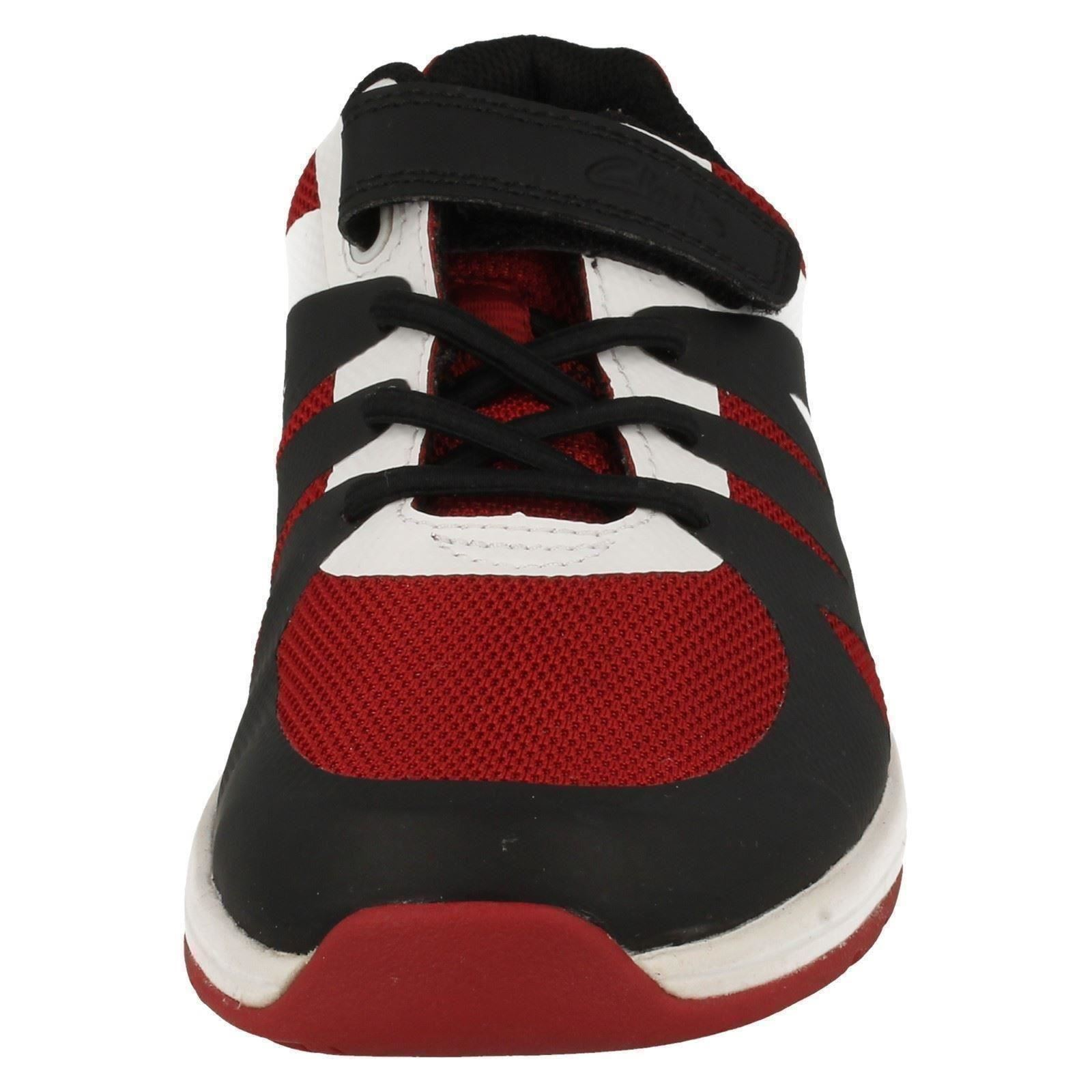 Boys Clarks Casual Hook & Loop Machine Washable Trainers Trace Step