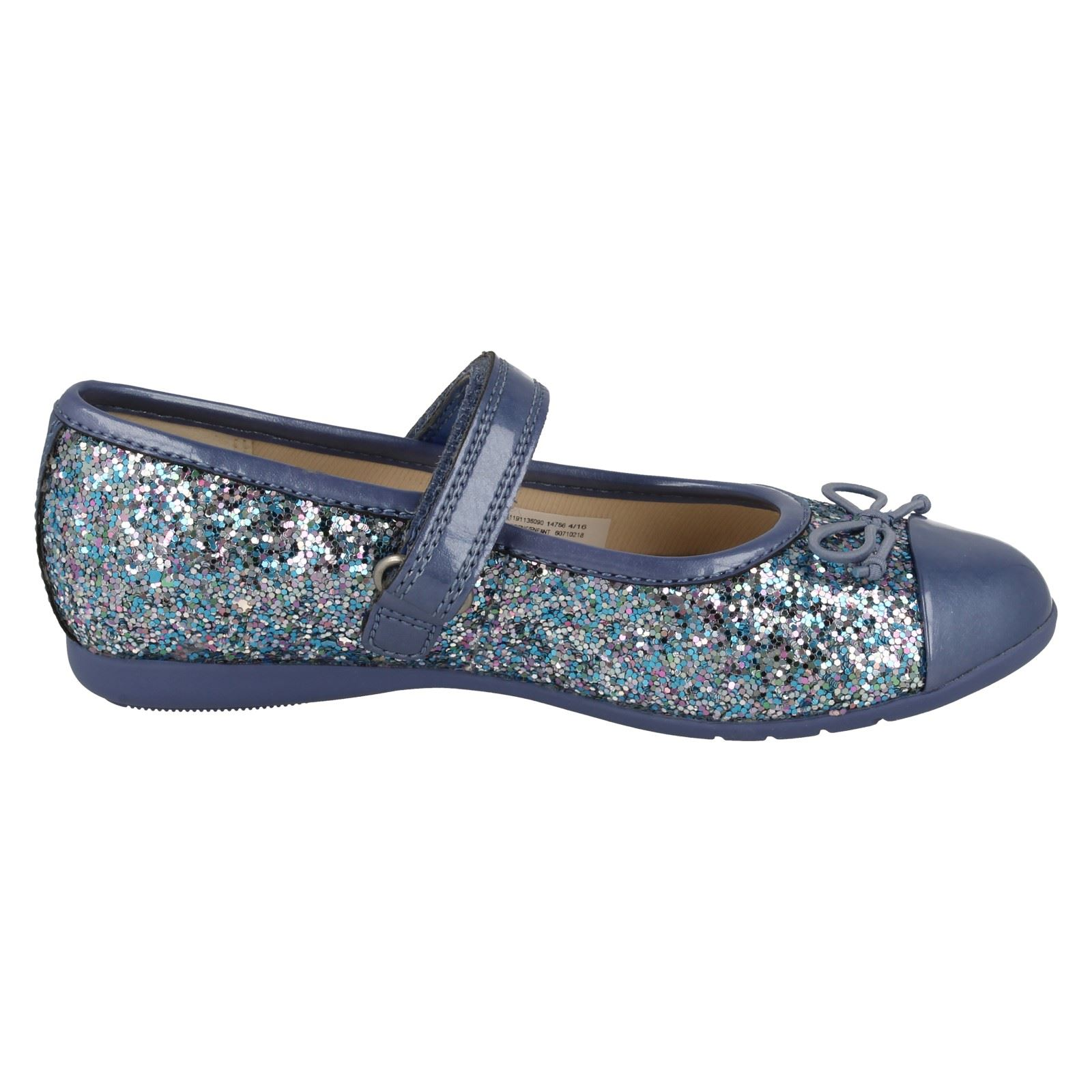 Girls Clarks Pretty Mary Jane Style Party Shoes Dance Zing