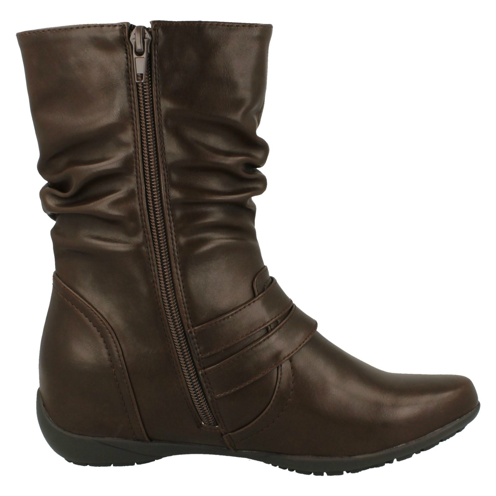 /'Ladies Down To Earth/' Flat Calf Boots F4R389