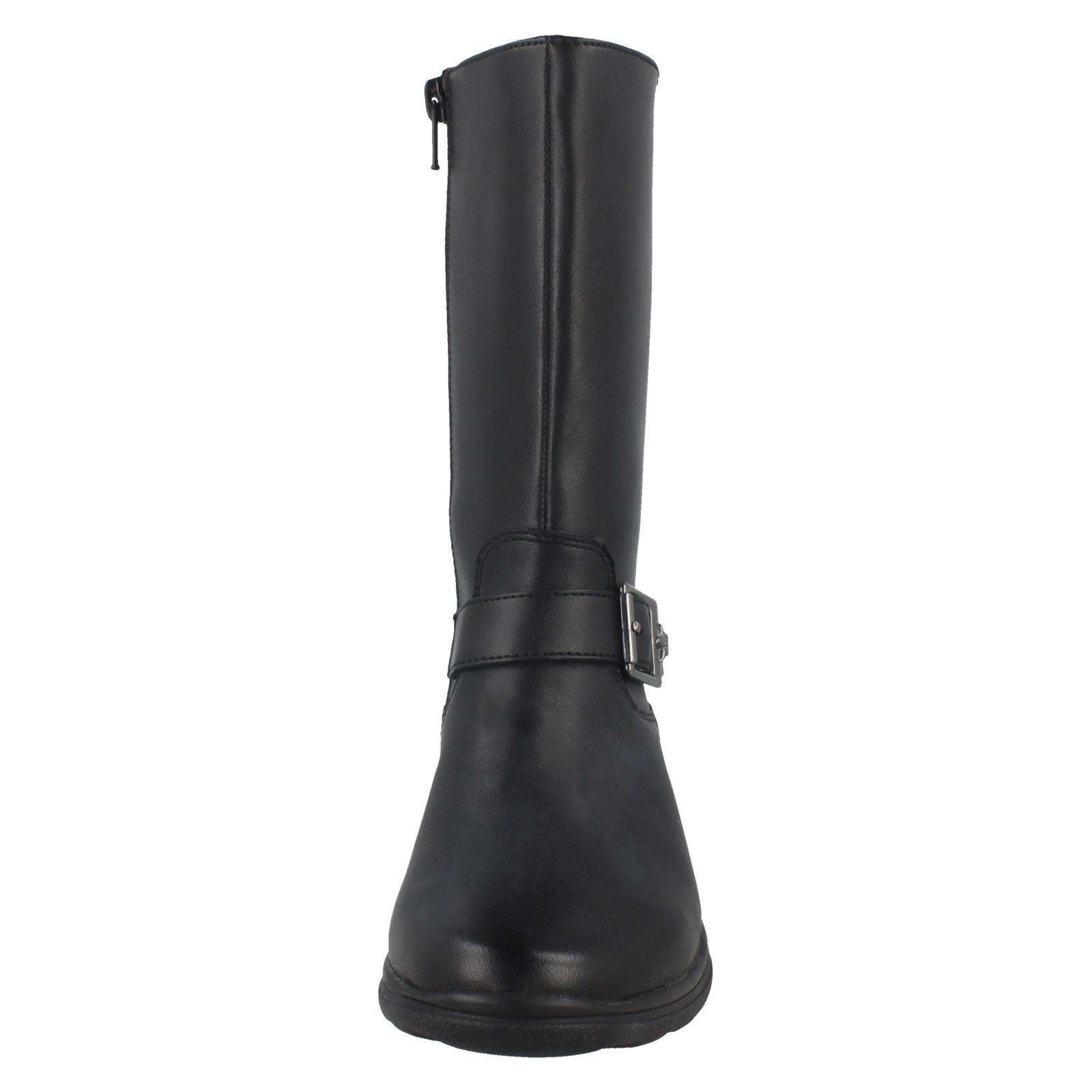 Star' Niñas Mid Negro Clarks Calf Boots 'mariel wS7UXq7
