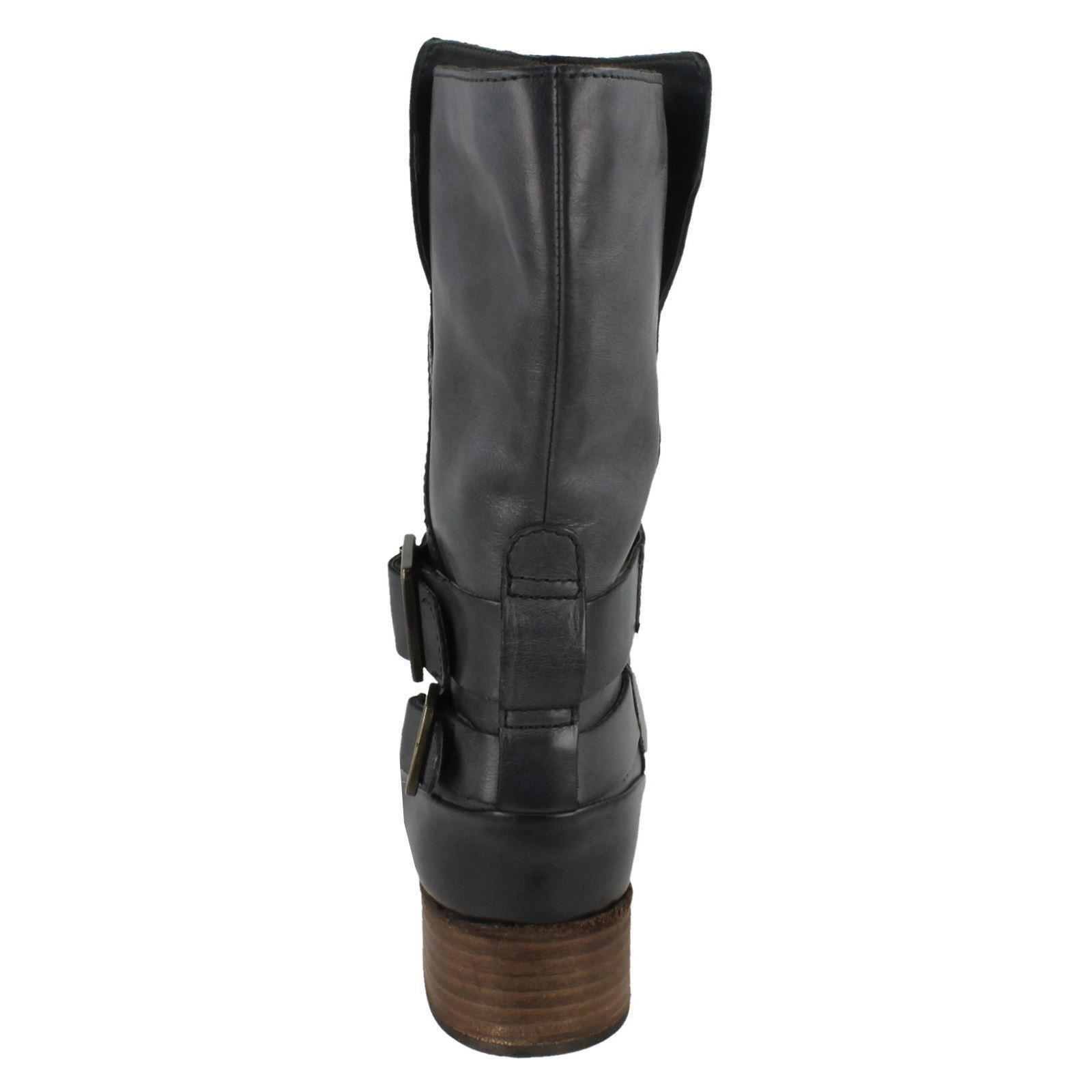 Trim Monica Soul grey With Ladies Strap Boots Grey Clarks Buckle Dark qPxpXF66wc