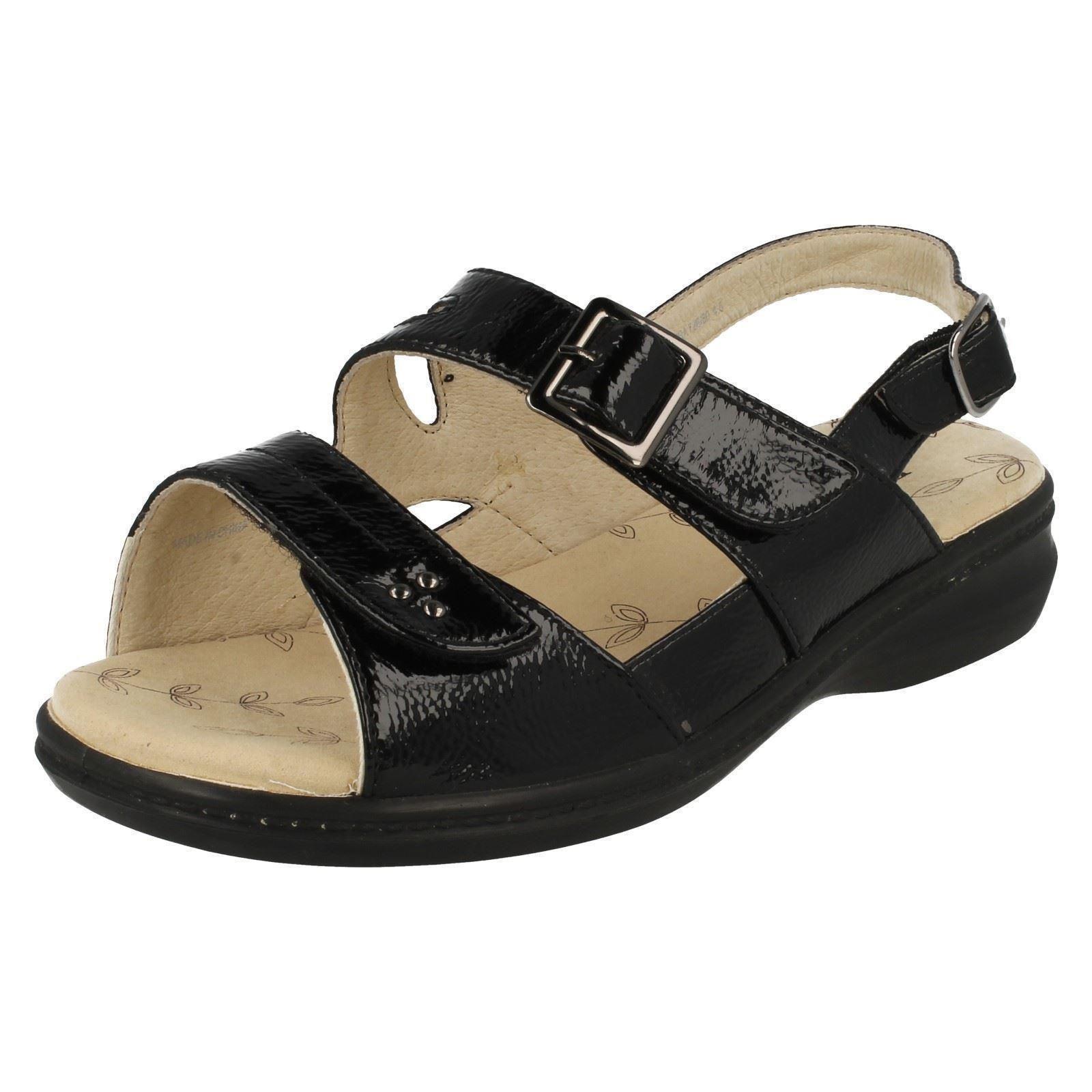 damen padders breite passform sommer sandalen 39 laura 39 ebay. Black Bedroom Furniture Sets. Home Design Ideas