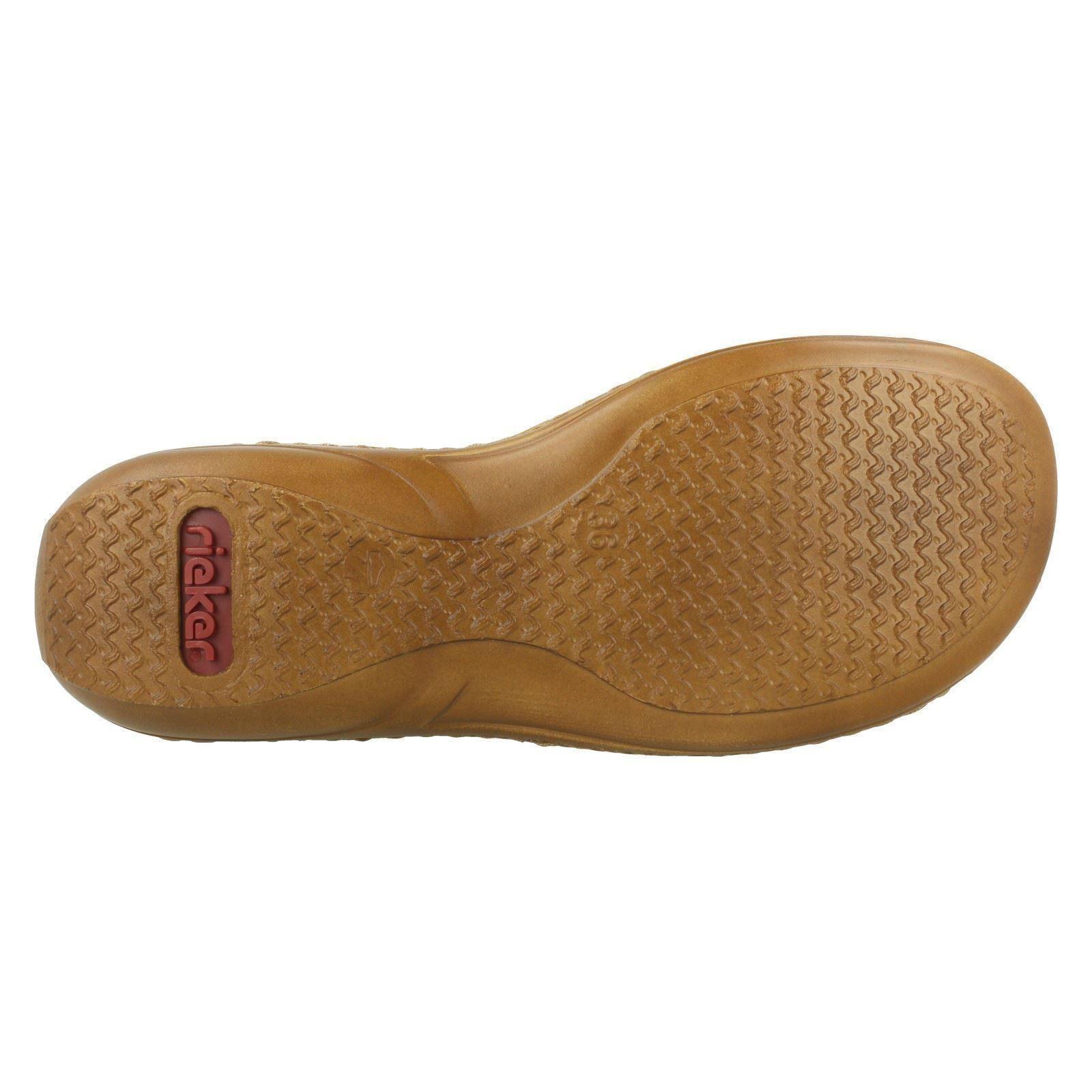 Ladies Rieker Casual Peep Toe Sandals '608D1' Blue