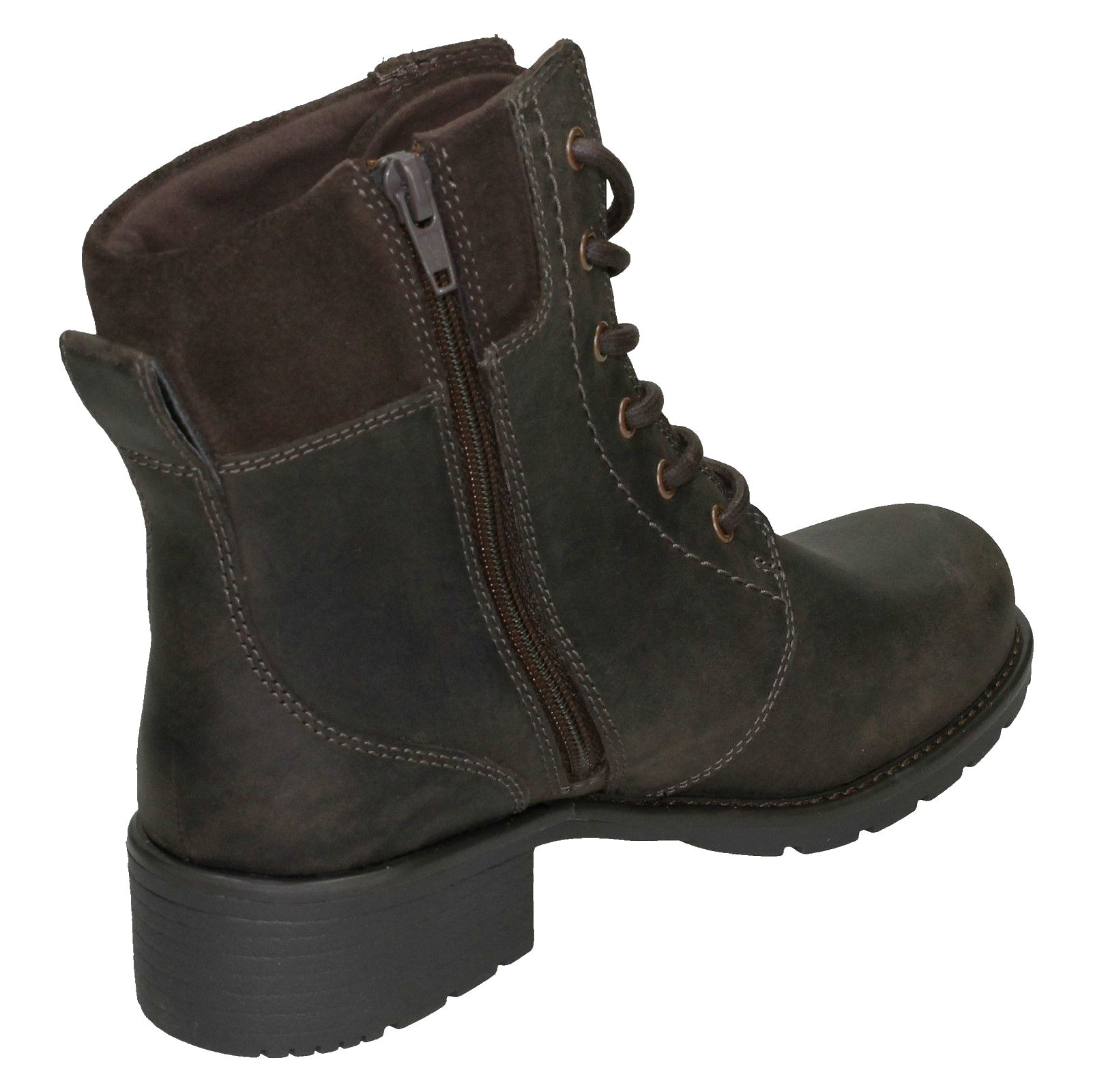 Ladies-Clarks-Casual-Lace-Up-Inside-Zip-Nubuck-Leather-Ankle-Boots-Orinoco-Spice thumbnail 33