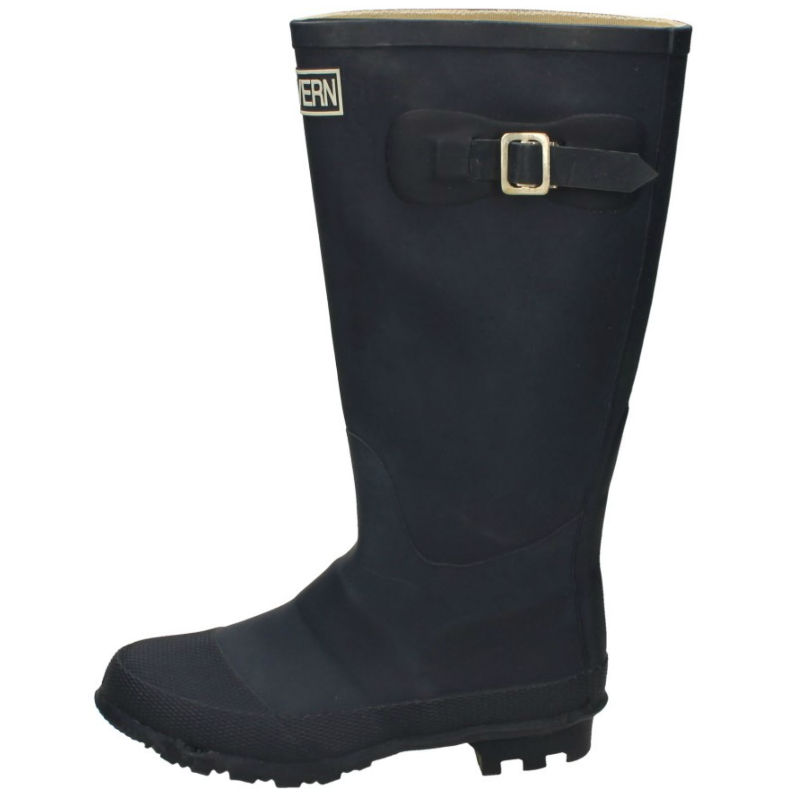 Mens Malvern Casual Slip On Buckle Detail Rubber Outdoor Wellington Boots