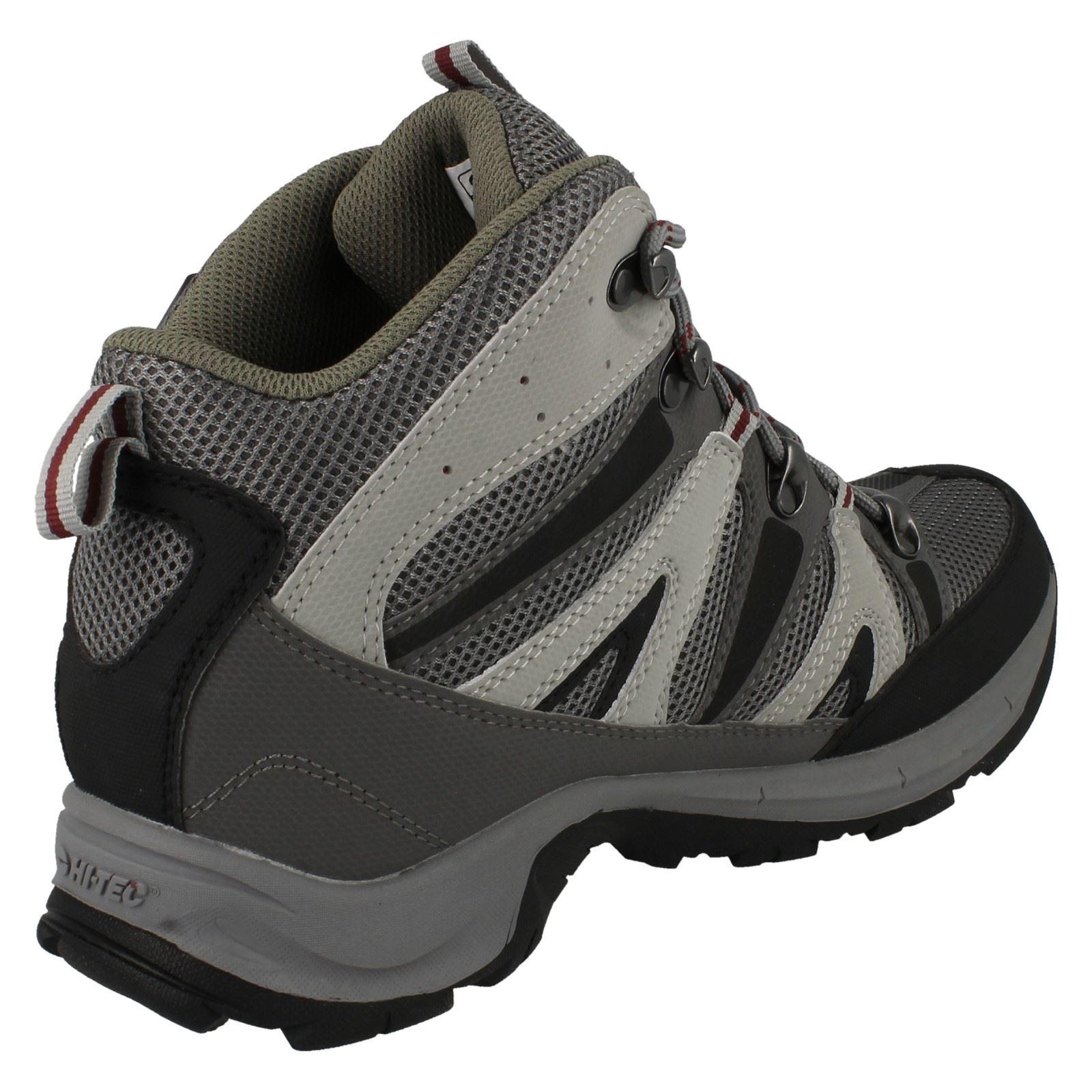 Mens Condor Black//Grey//Red Lace Up Walking Boot By Hi-tec