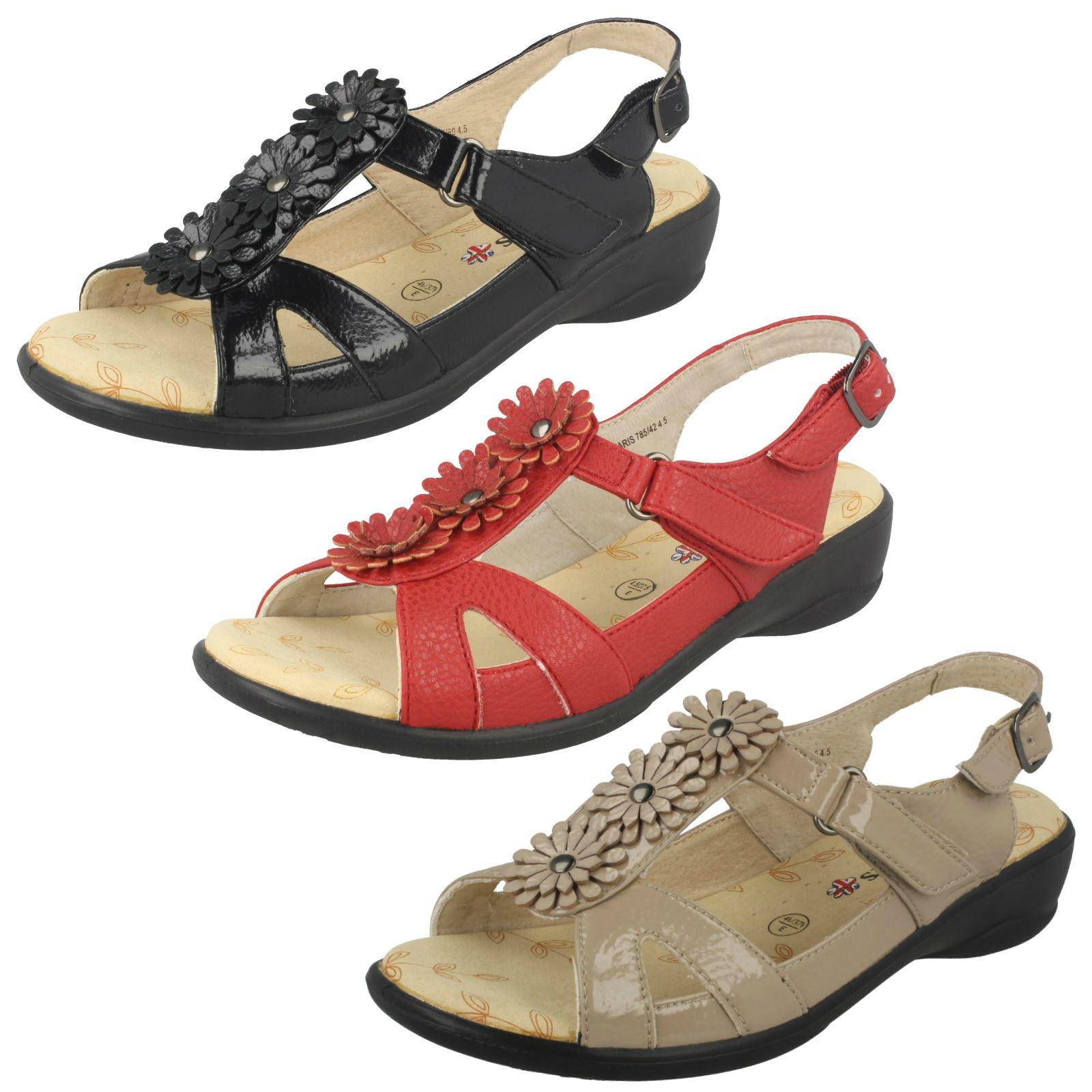 best supplier footwear buy good Details about Ladies Padders Wide Fitting Sandals 'Paris'