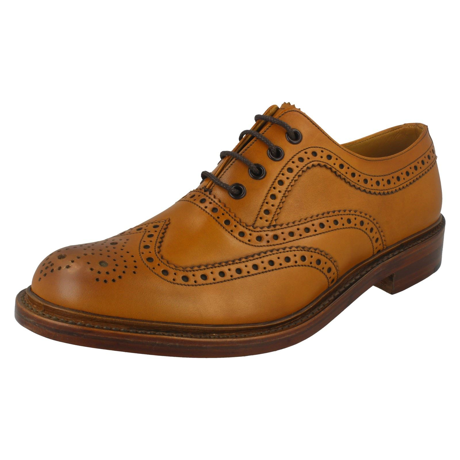 Mens Loake Ashby Burnished Leather Brogues