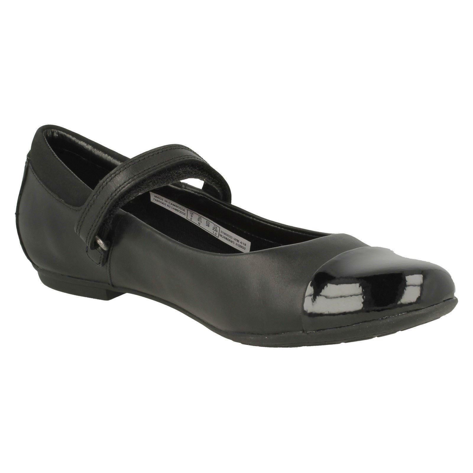 Black Jane Calzado para estilo Clarks Mary niñas Talk escolar Tizz OxpSxnwz