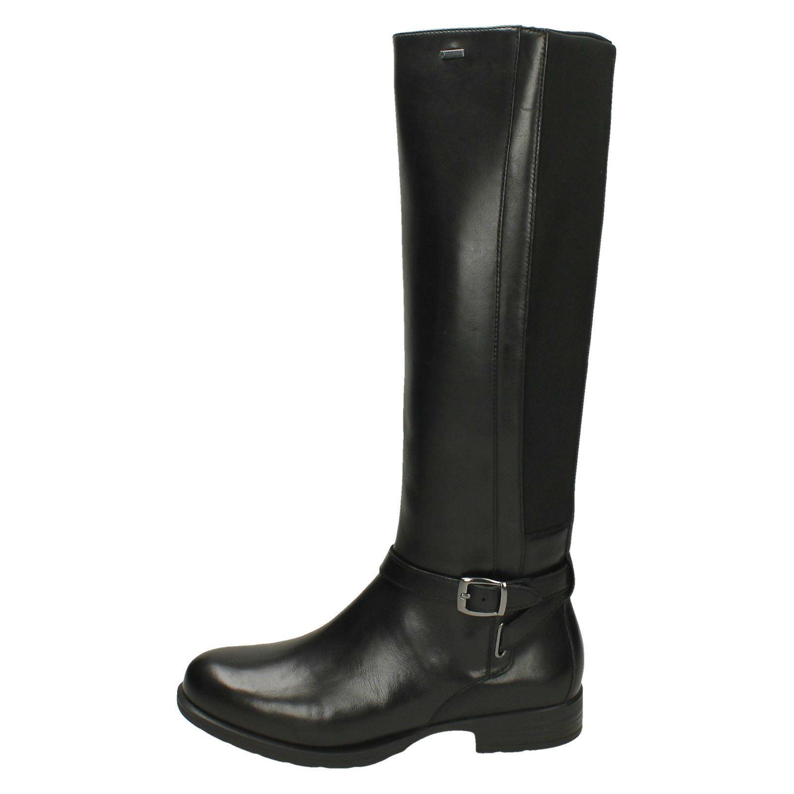 Cheshunthi Casual Gtx Boots High Ladies Clarks Black Knee 1zq74v