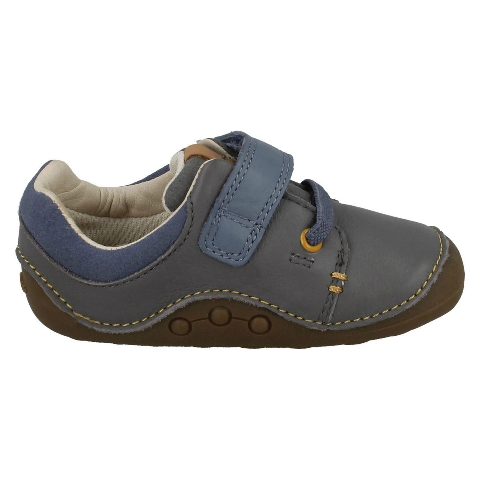 e38d60c2e17f Boys Clarks Leather First Shoes Tiny Sid UK 3.5 Infant Grey G for ...