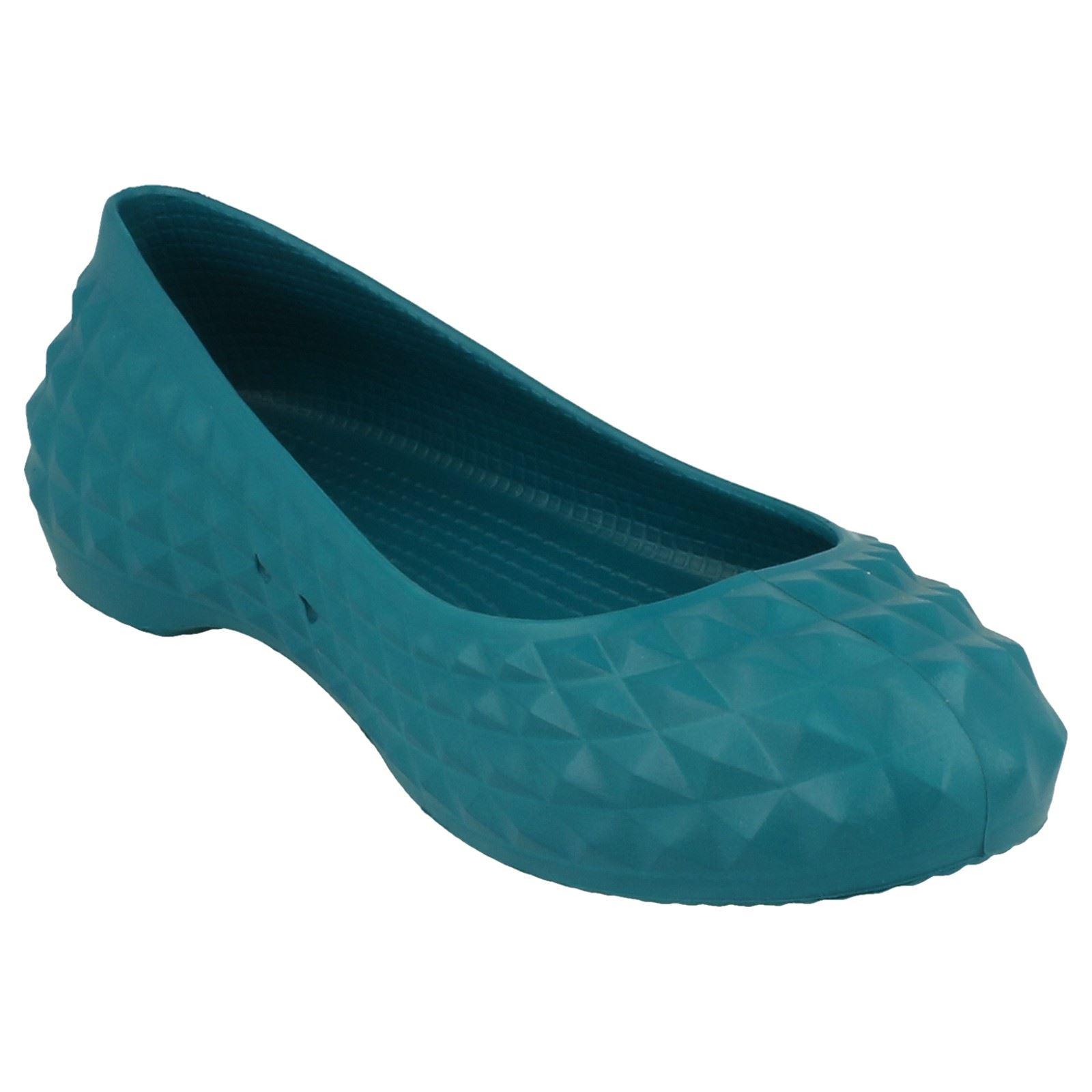 Zapatos bailarina de azul Juniper mujer Super para Molded Flat Crocs rCrqU1