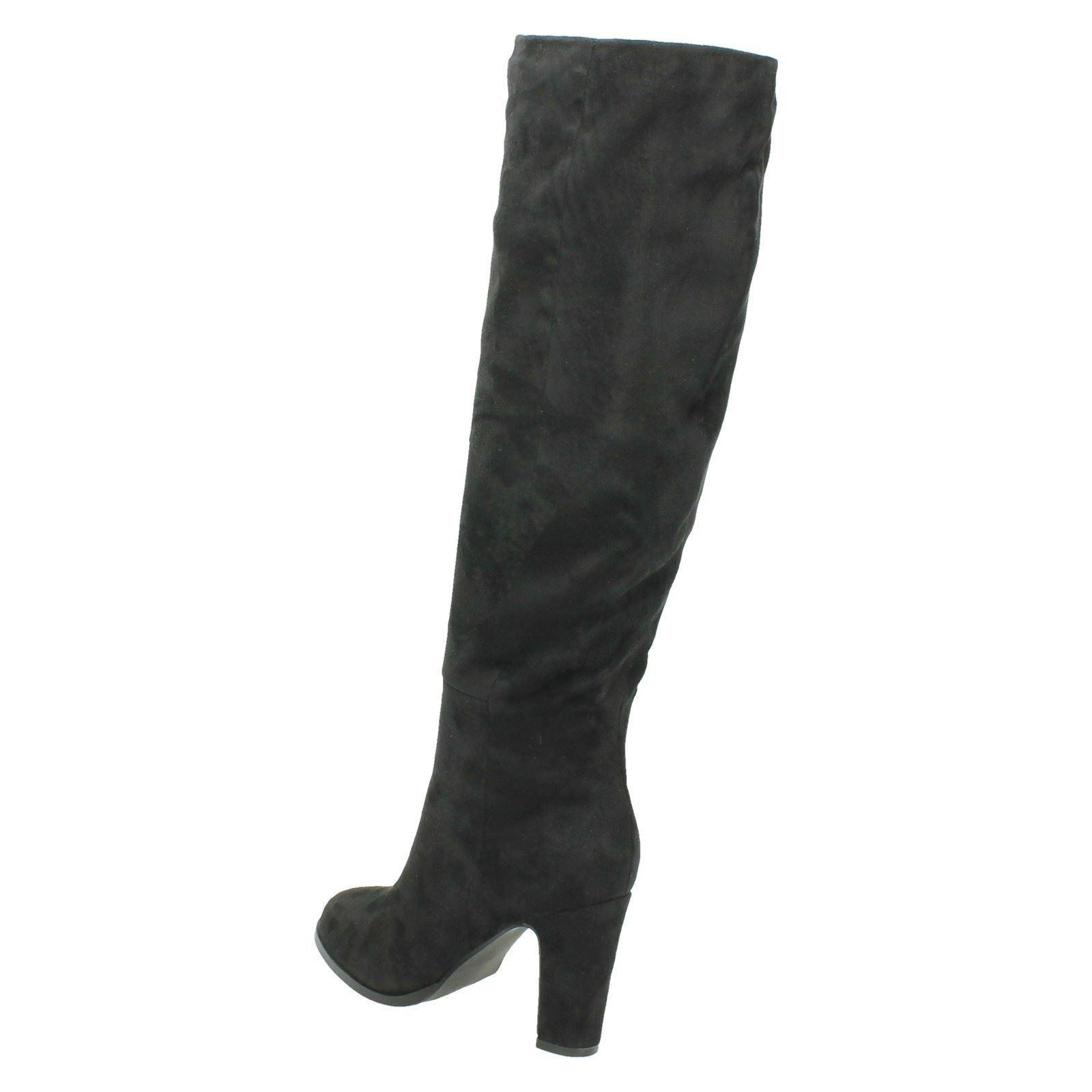 Spot-On-Ladies-Block-Heeled-Knee-High-Boots
