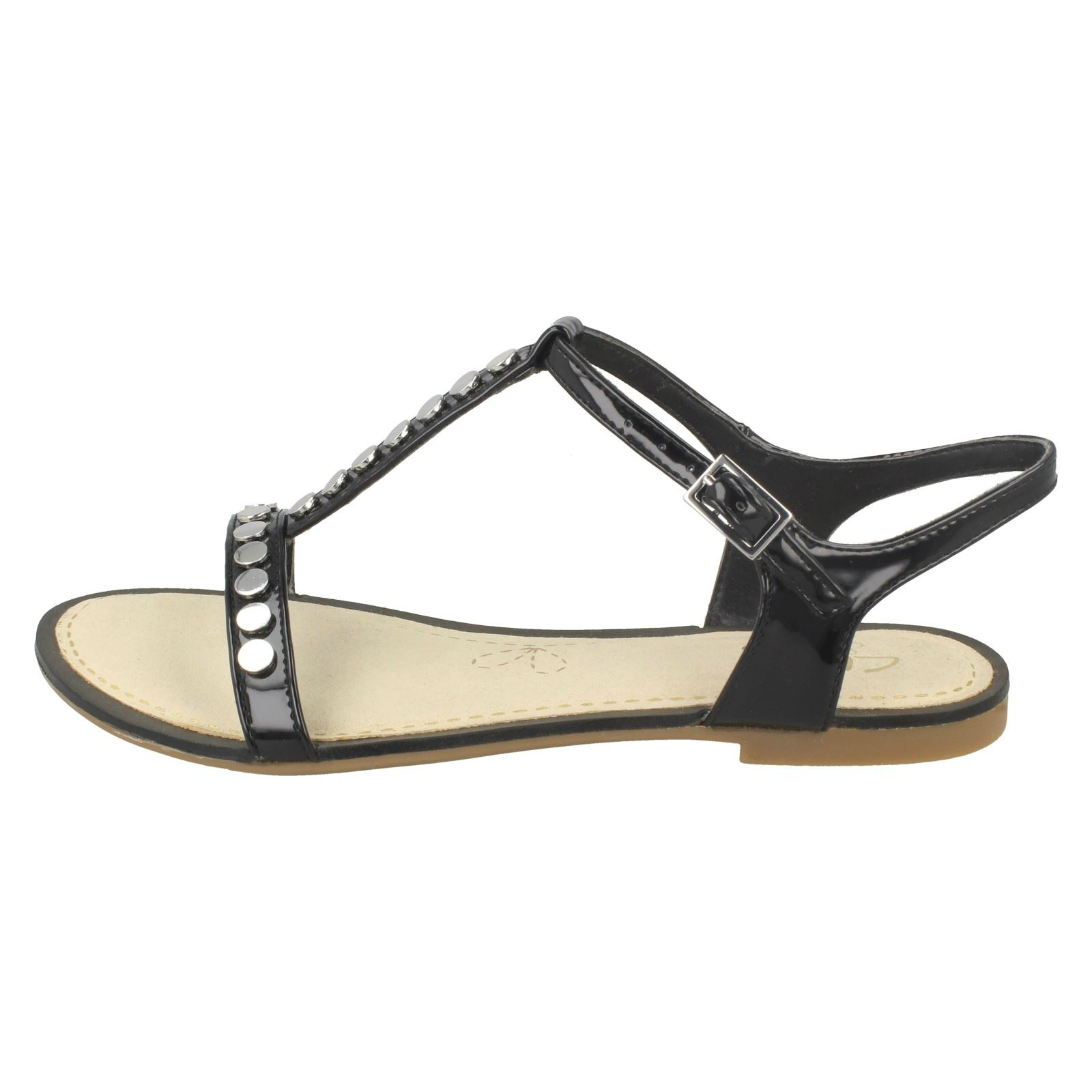 a8088f61a Ladies Clarks Flat Studded Buckled Summer Sandals Sail Festival 3 UK Black  D. About this product. Picture 1 of 10  Picture 2 of 10  Picture 3 of 10 ...