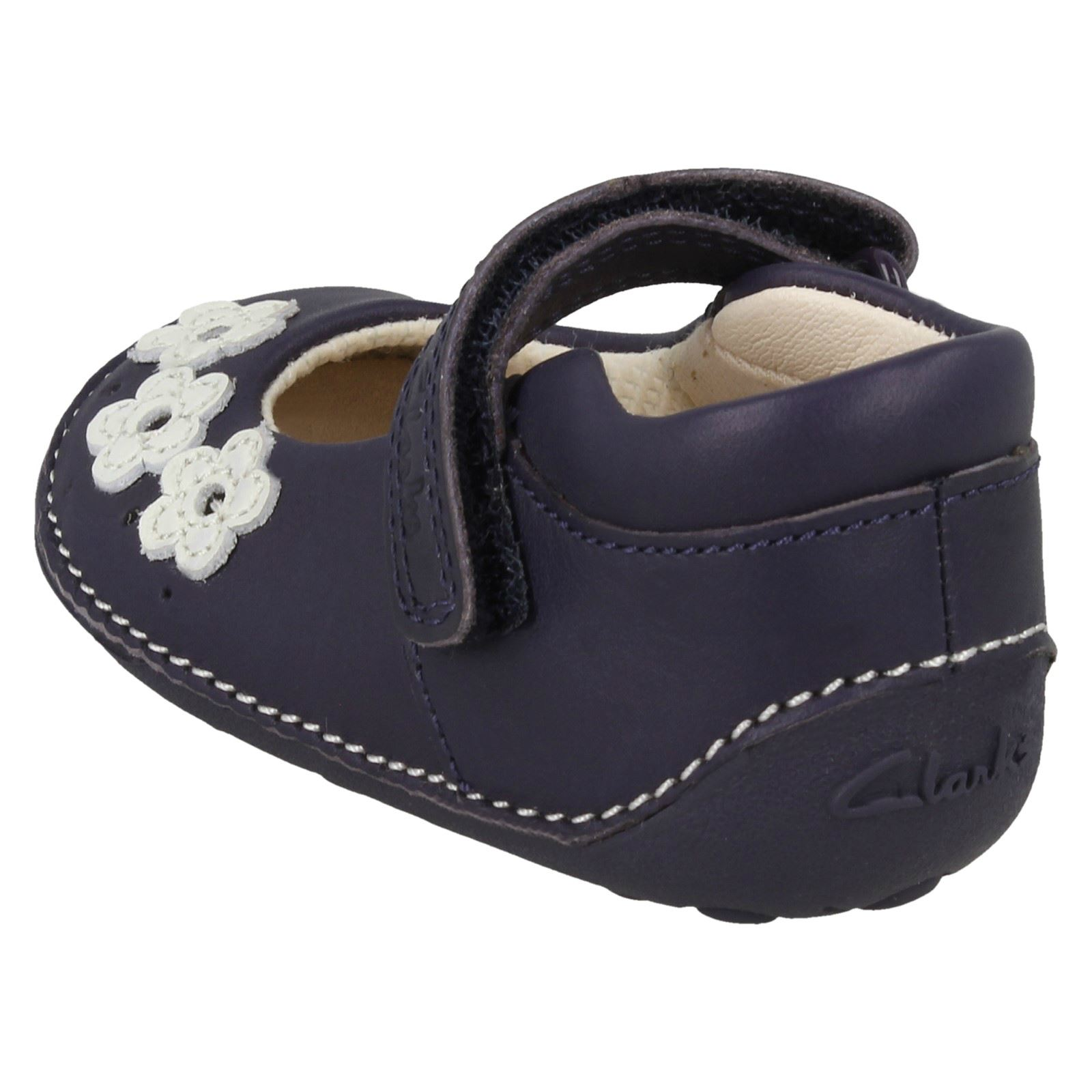 Las First 'little Clarks Darcy' Navy Shoes azul niñas 4rx4wfqU
