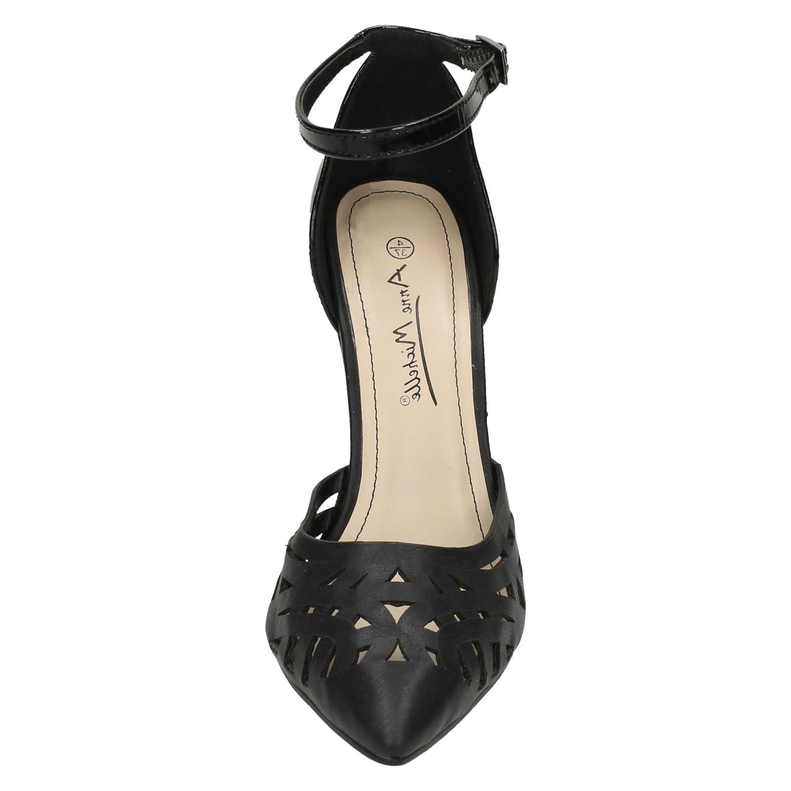 Damas Anne Michelle Tribunal Tira al Tobillo Zapatos