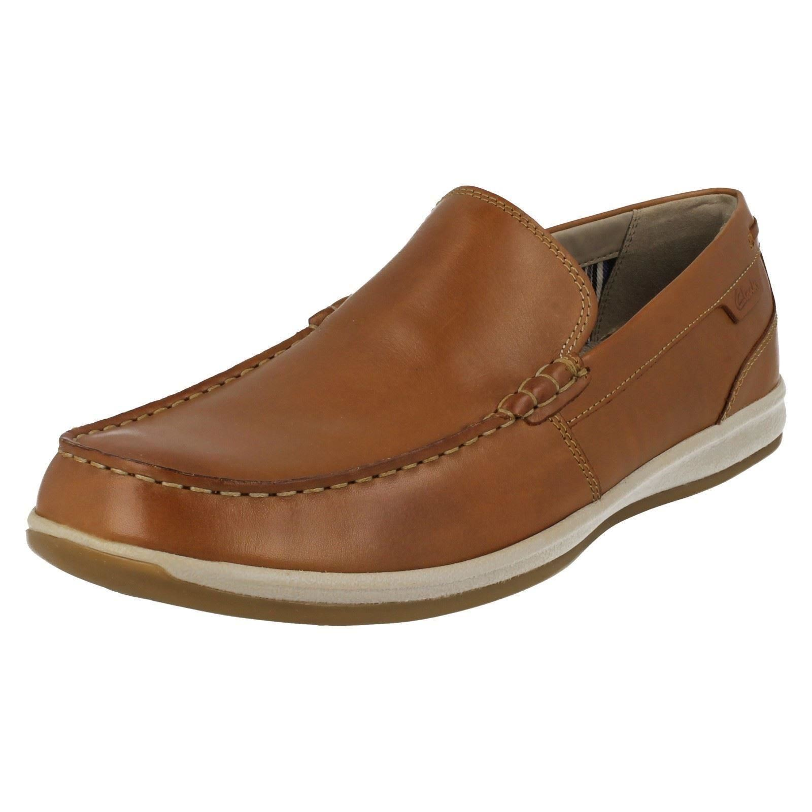 mens clarks moccasin style shoes fallston step ebay