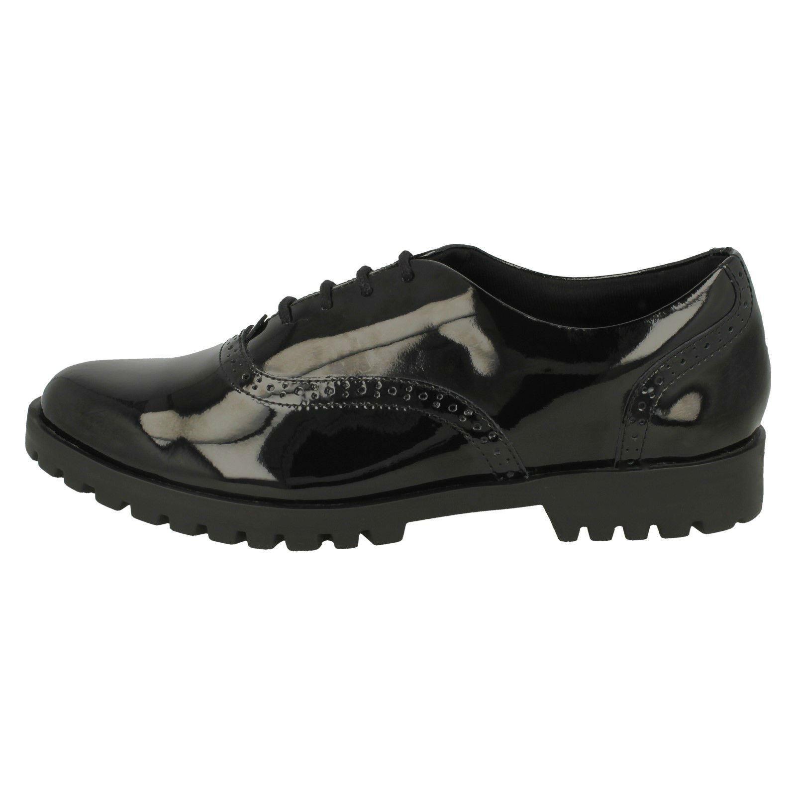 Detallados Brogue Clarks Millie Agnes Niñas Negro Zapatos HS7Xqx8