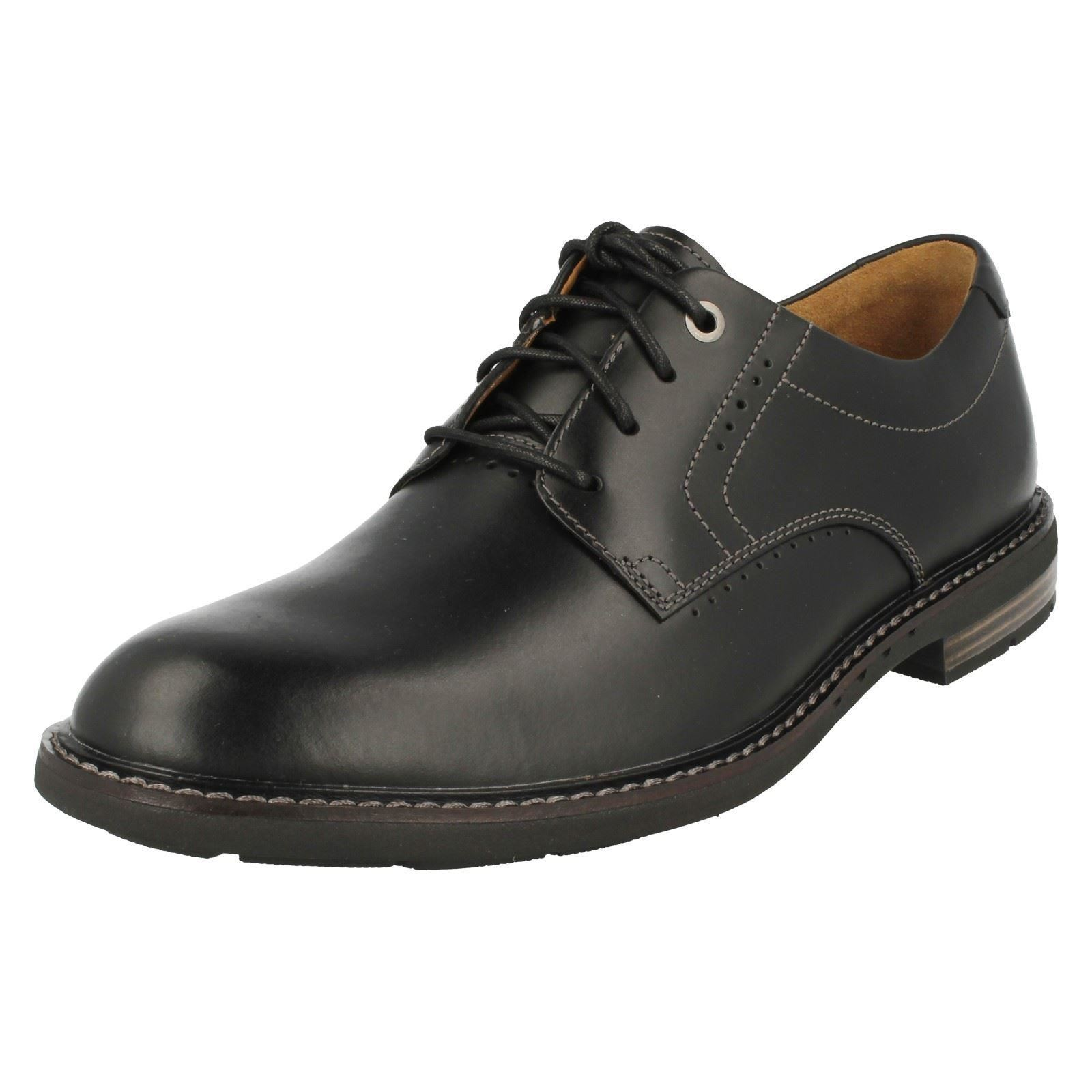 Mens Clarks Formal Lace Up Shoes Unelott Plain