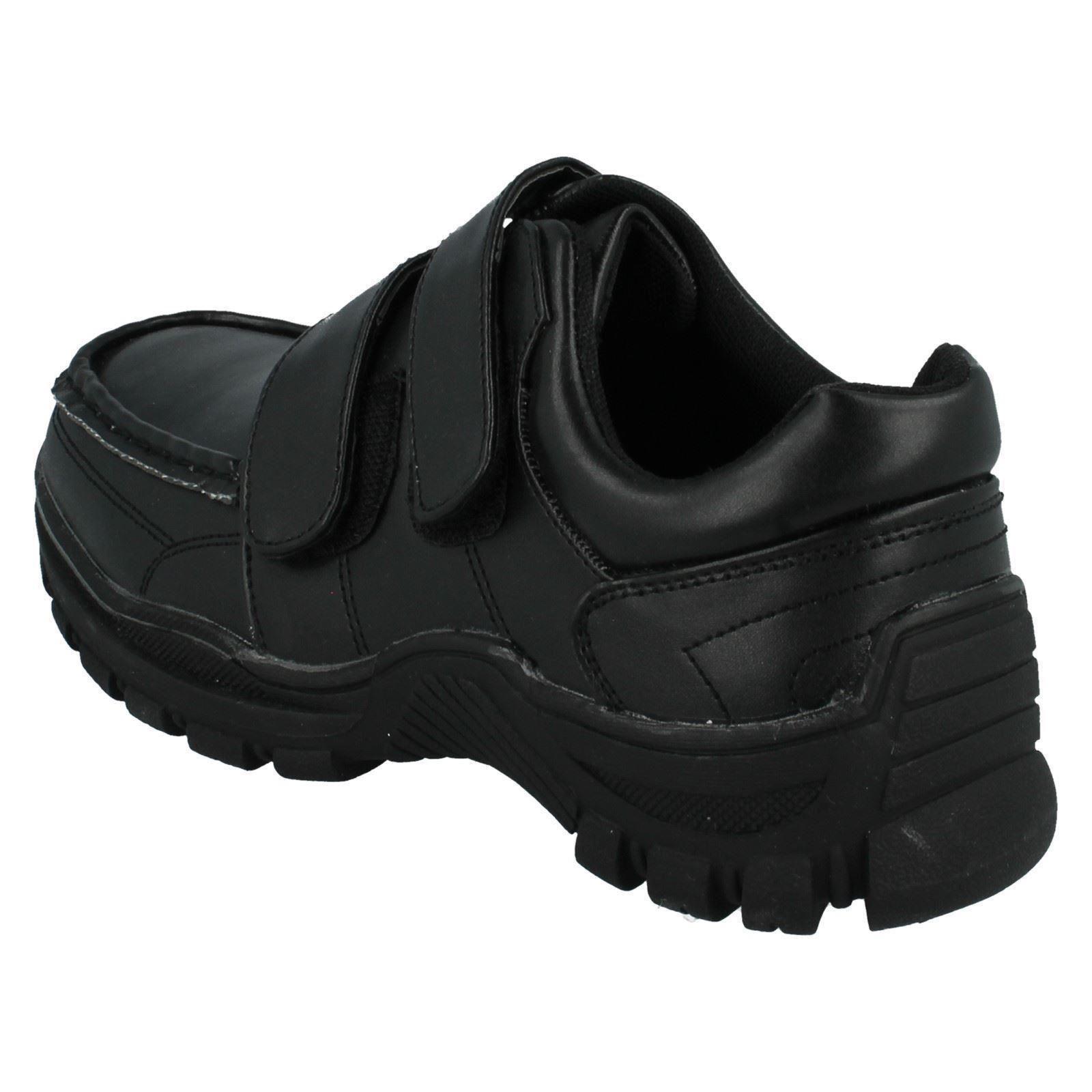Chicos Etiqueta Roja Doble Correa Escuela Zapatos
