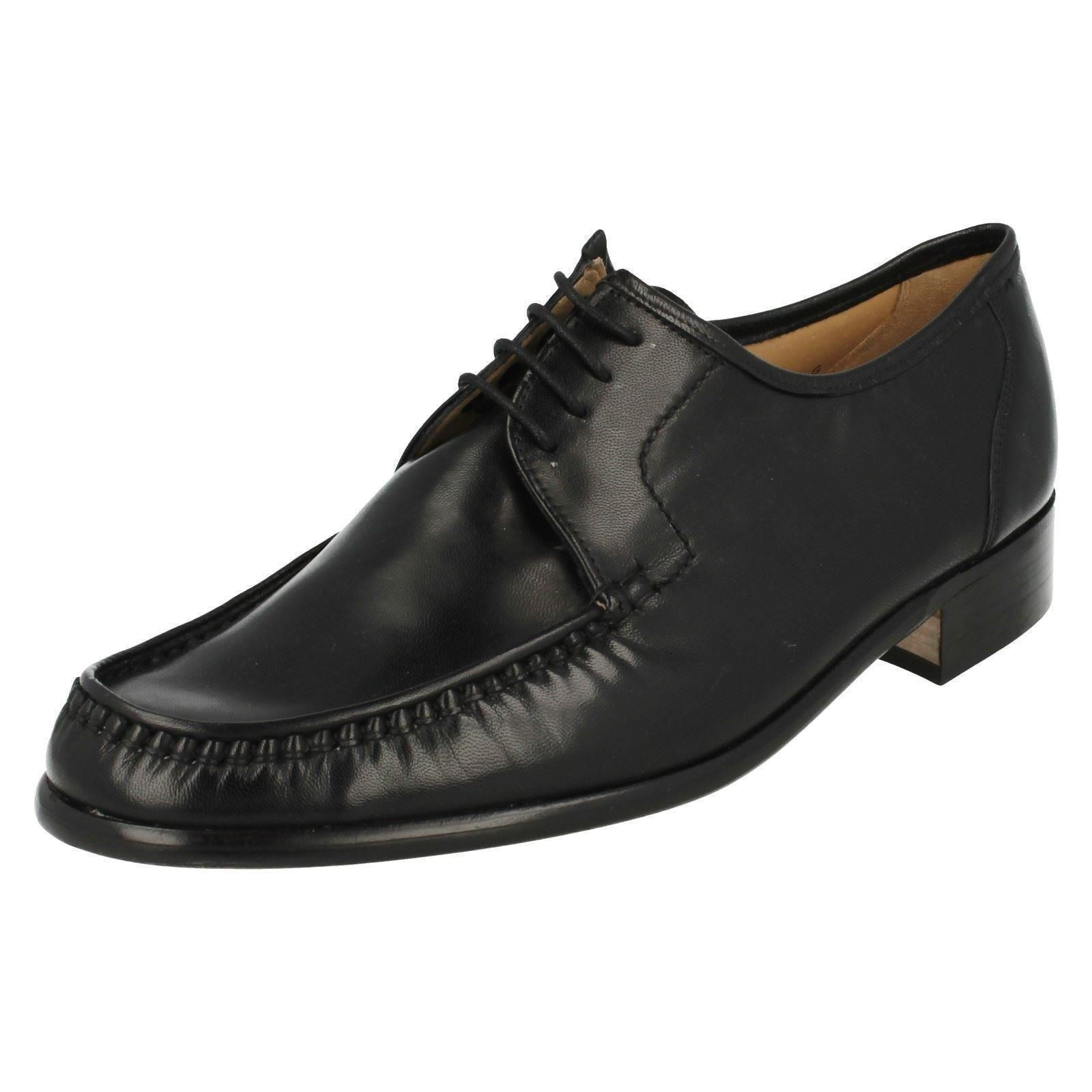 Herren Smart/Formal Grenson Rounded Lace Up Smart/Formal Herren Leder Heeled Moccasin Schuhes Crewe 952791