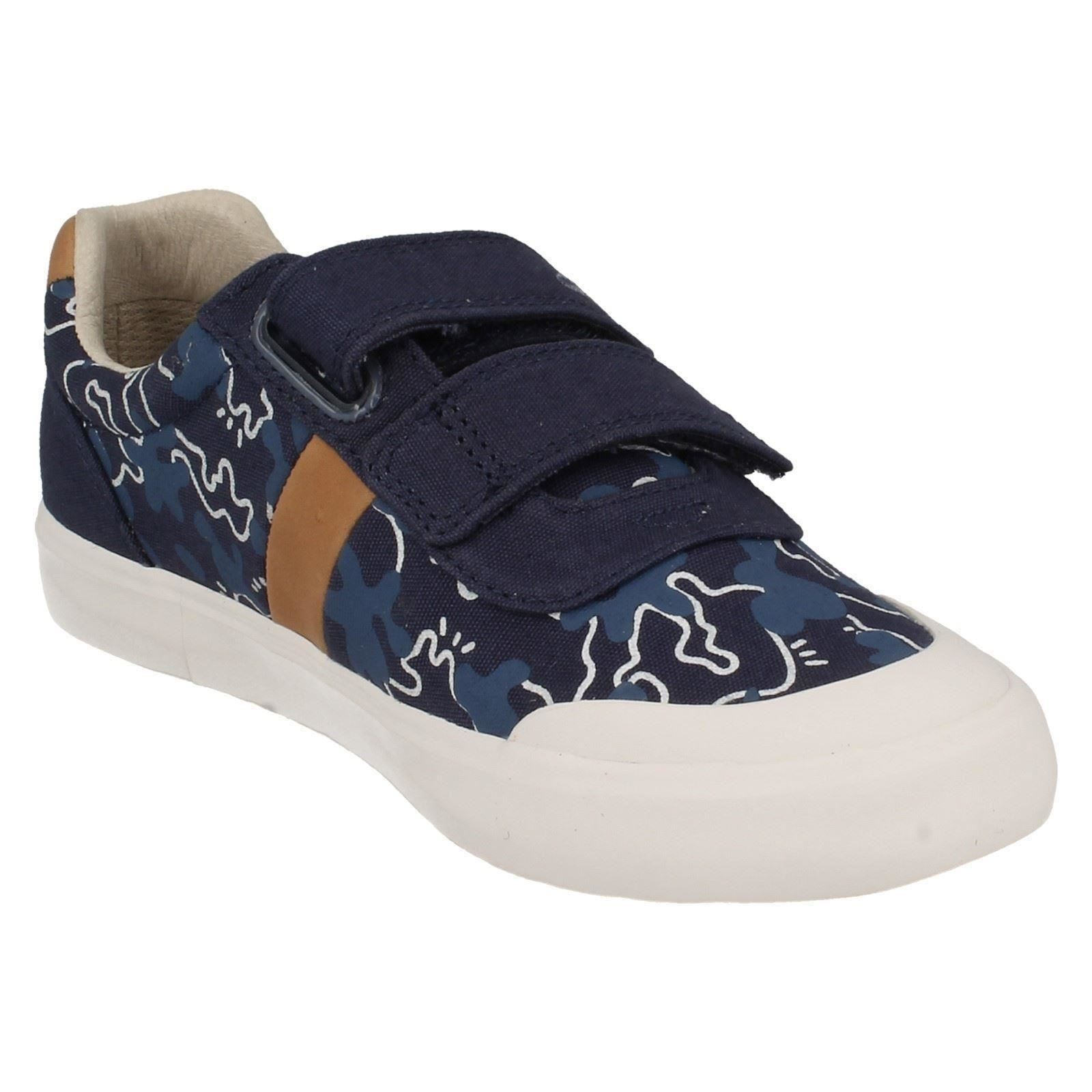 Infant Boys Clarks Canvas Washable Hook & Loop Riptape Shoes - Comic Zone Inf