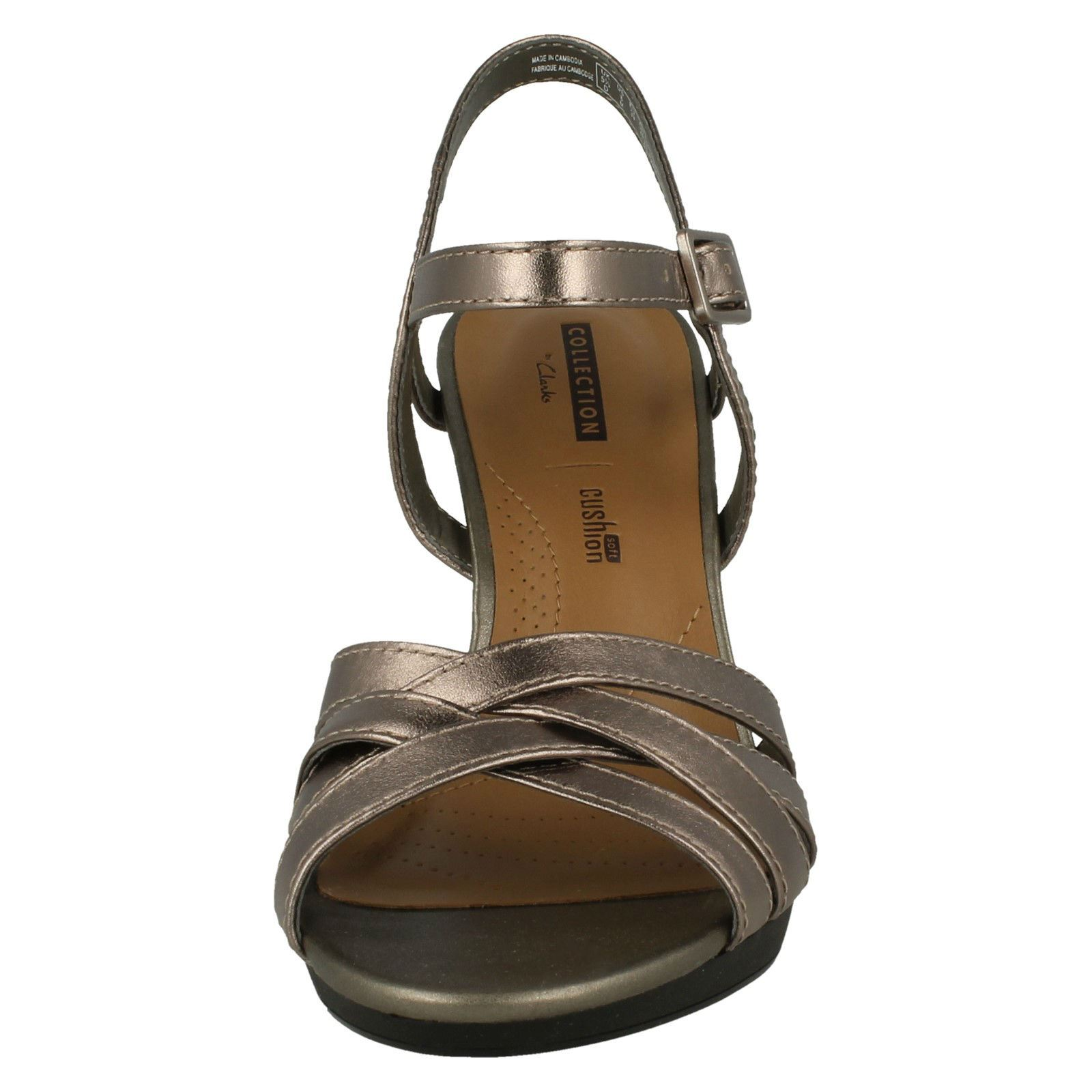 cb7a7962e92 Details about Ladies Clarks Slingback High Heel Sandals 'Adriel Wavy'