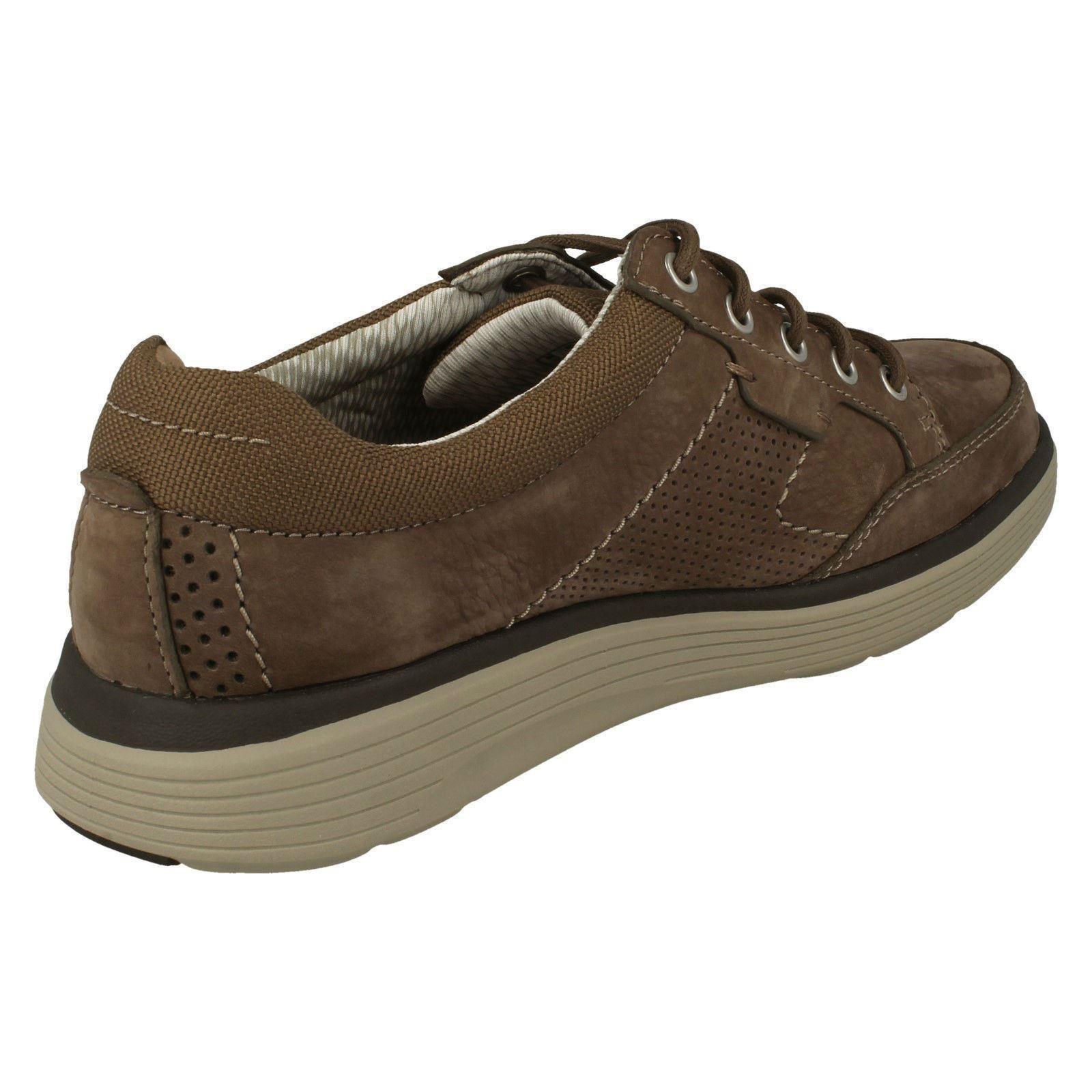 Herren Clarks Leder Up  Textile Casual Lace Up Leder Schuhes - 'Un Abode Lace' e3fc84