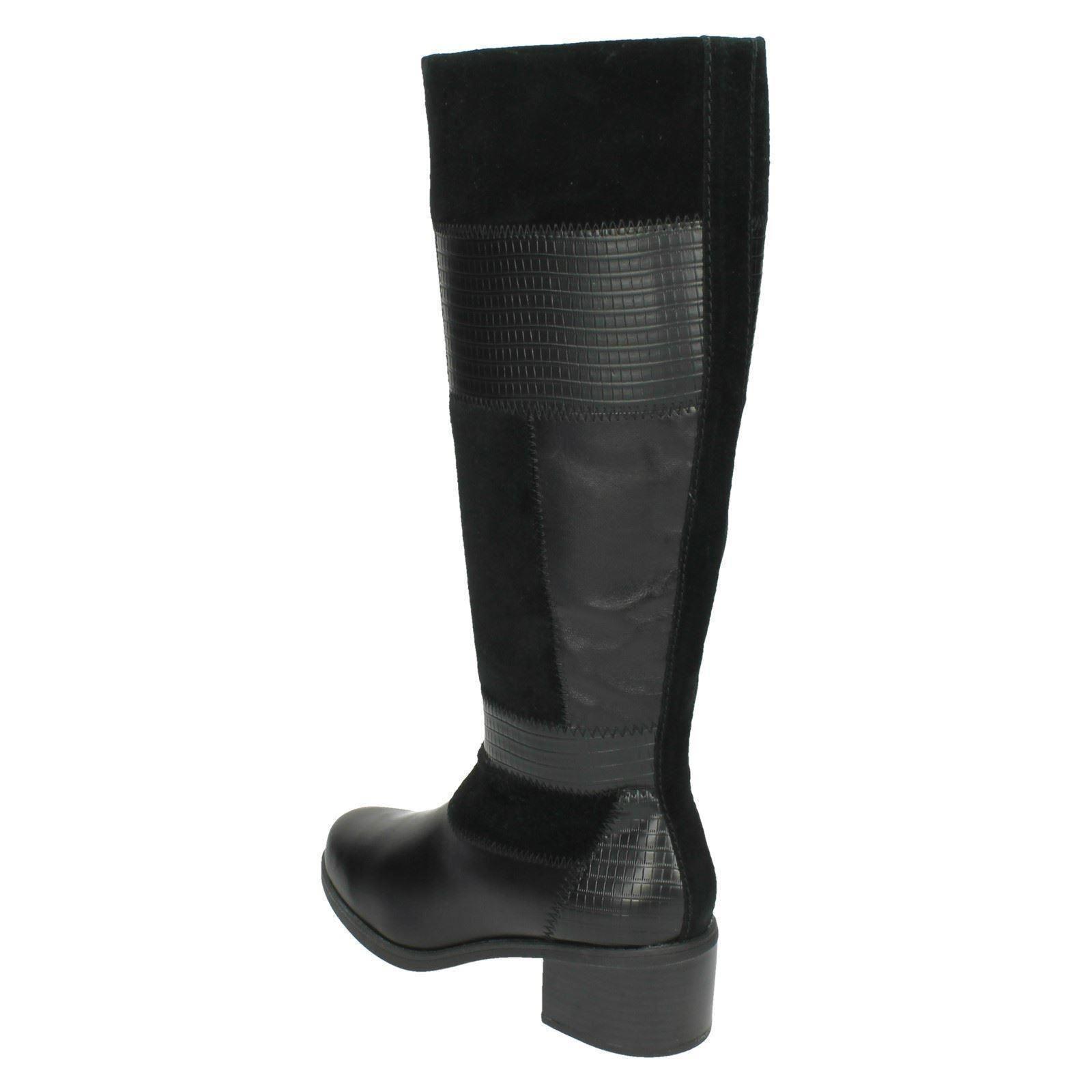 Nova botas Nevella largas Señoras Clarks negro xfq6H68w