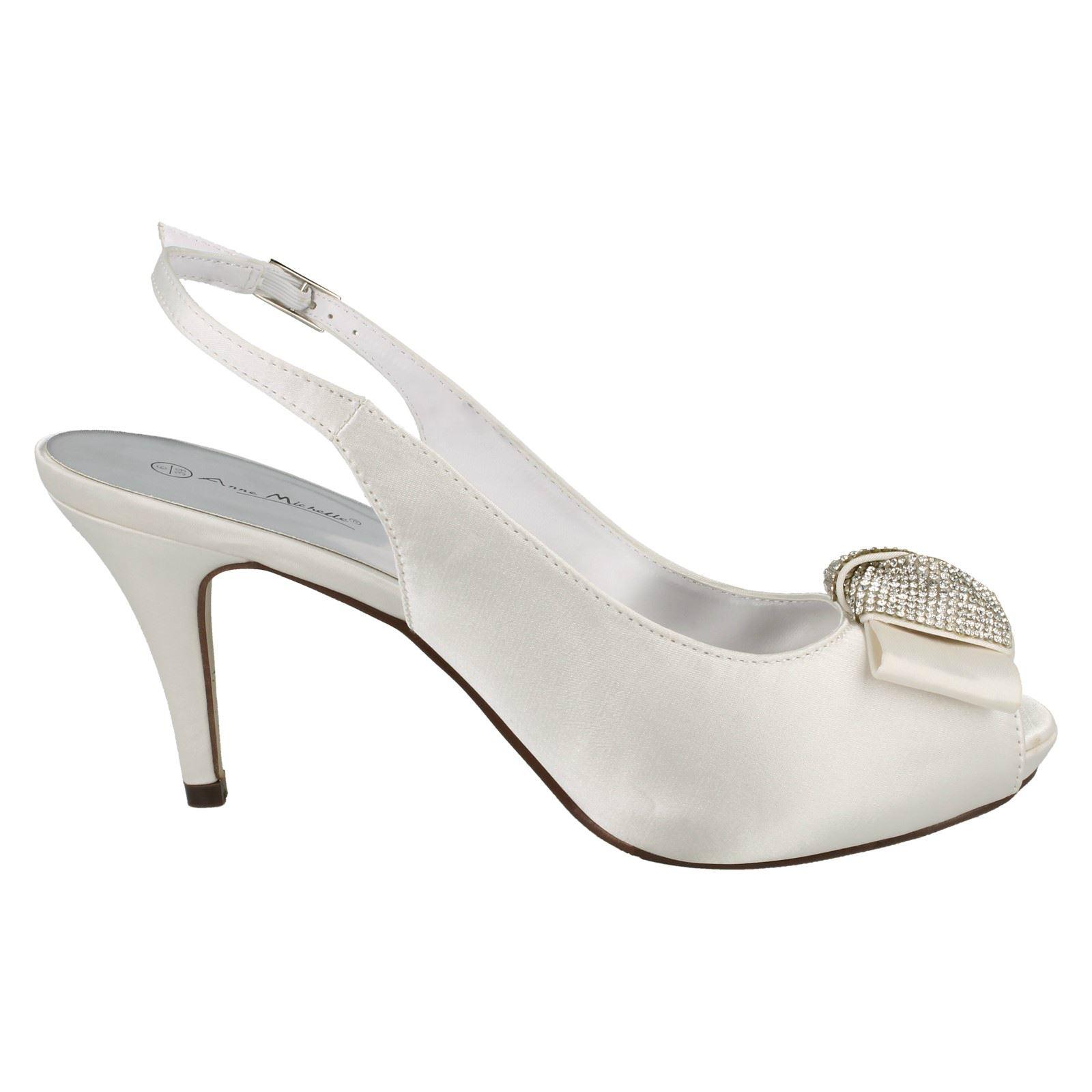 Damas Anne Michelle Punta Abierta Tribunal Zapatos Estilo 254