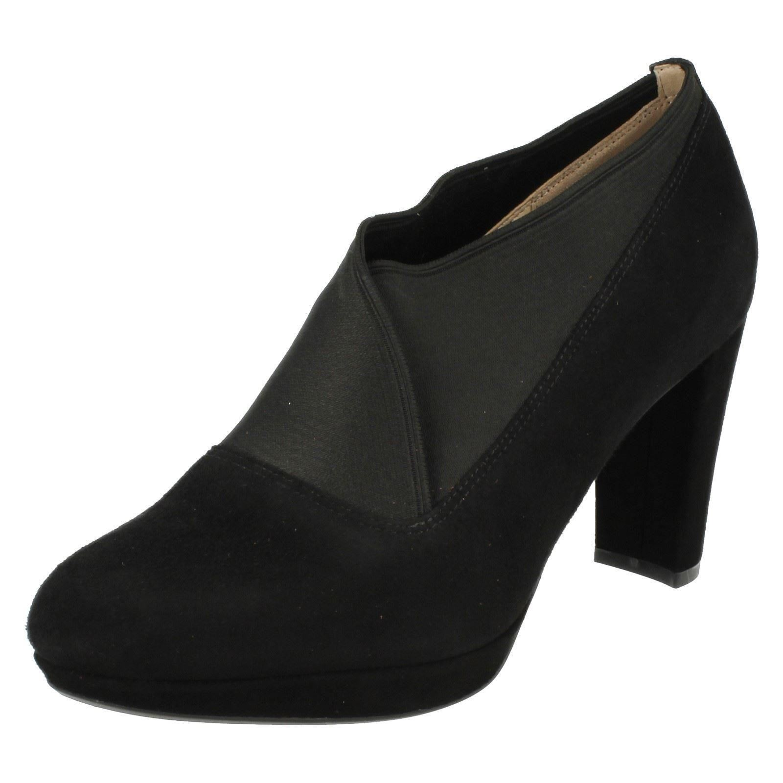 Clarks Black Elasticated Shoe